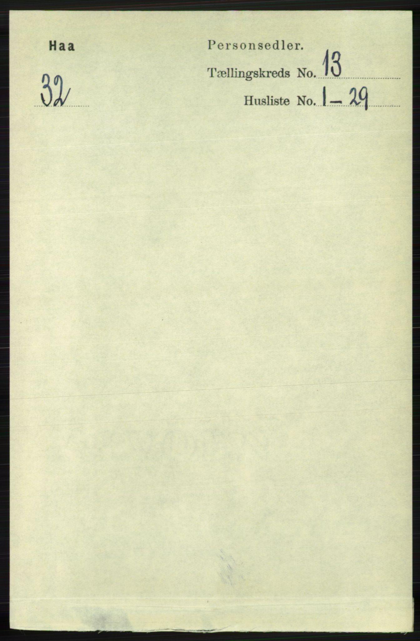 RA, Folketelling 1891 for 1119 Hå herred, 1891, s. 3155