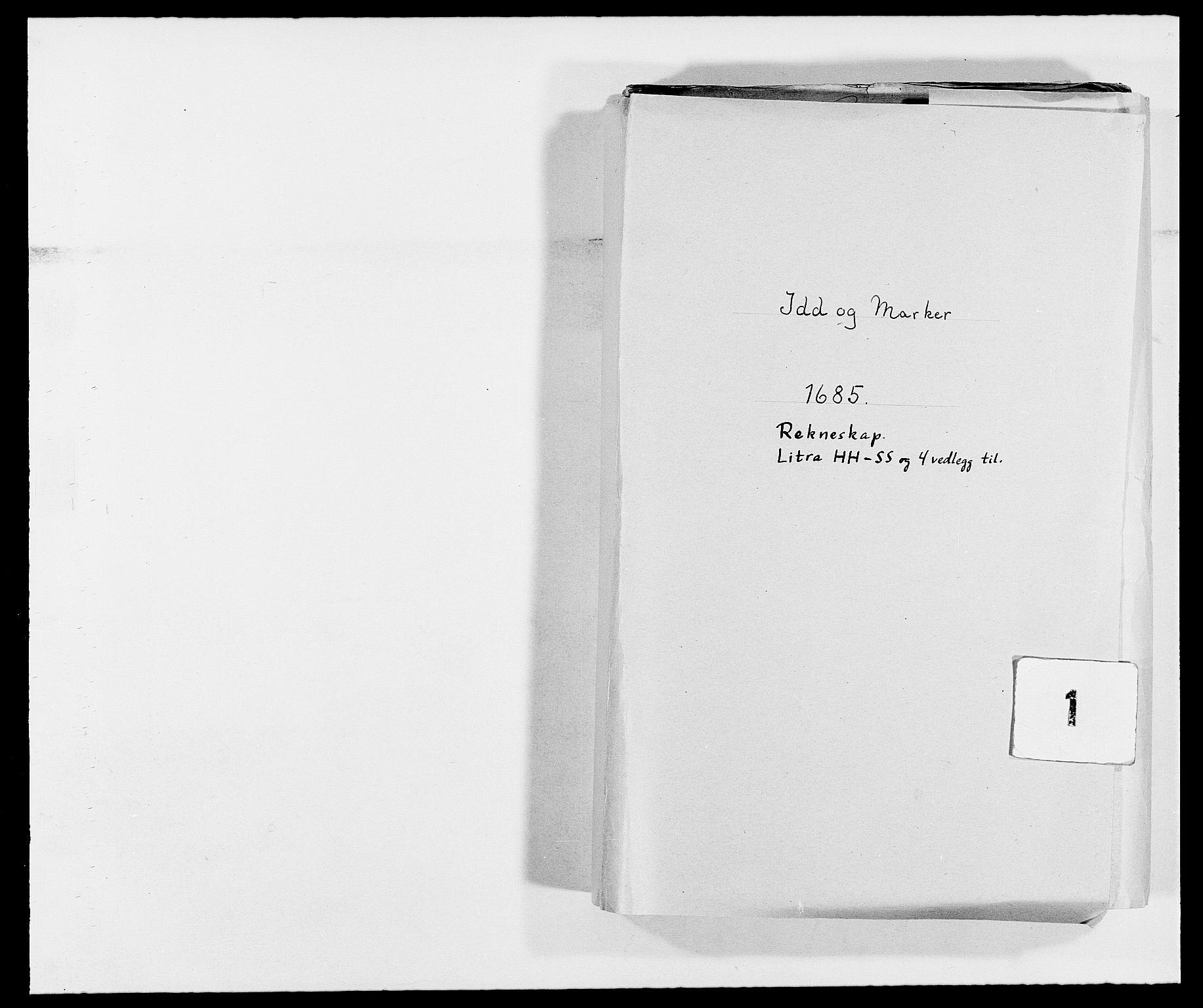 RA, Rentekammeret inntil 1814, Reviderte regnskaper, Fogderegnskap, R01/L0006: Fogderegnskap Idd og Marker, 1685-1686, s. 1