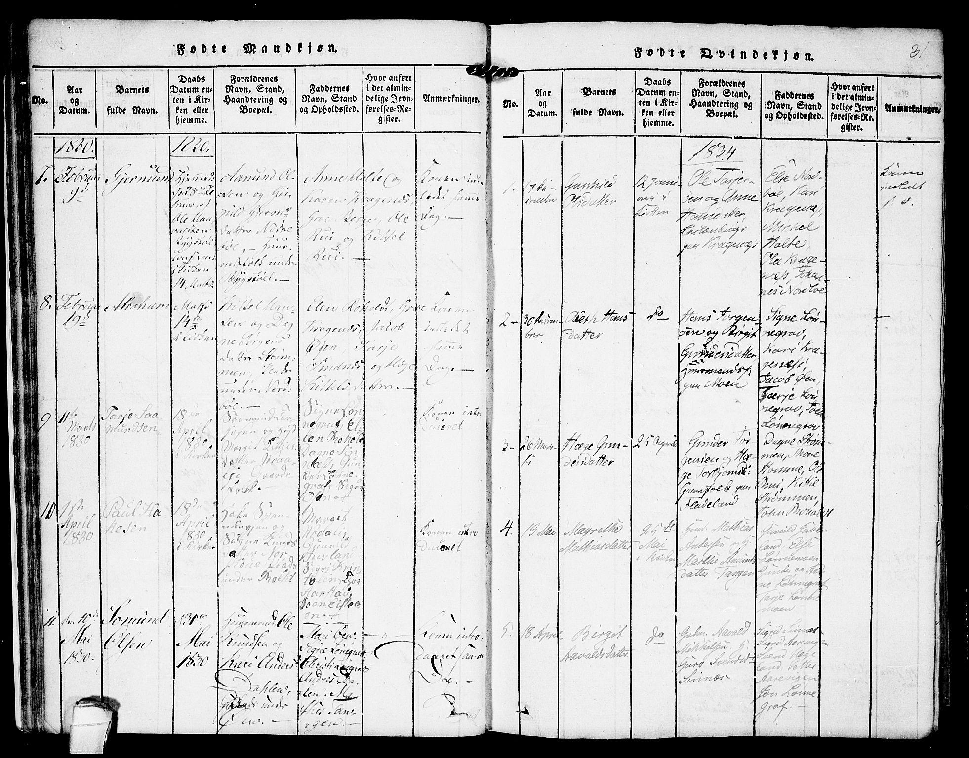 SAKO, Kviteseid kirkebøker, F/Fc/L0001: Ministerialbok nr. III 1, 1815-1836, s. 31