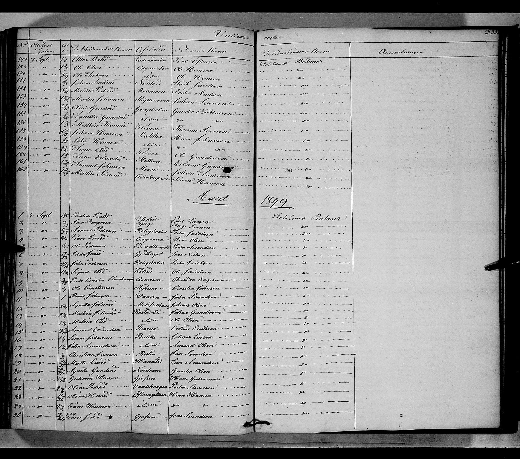 SAH, Gausdal prestekontor, Ministerialbok nr. 7, 1840-1850, s. 335