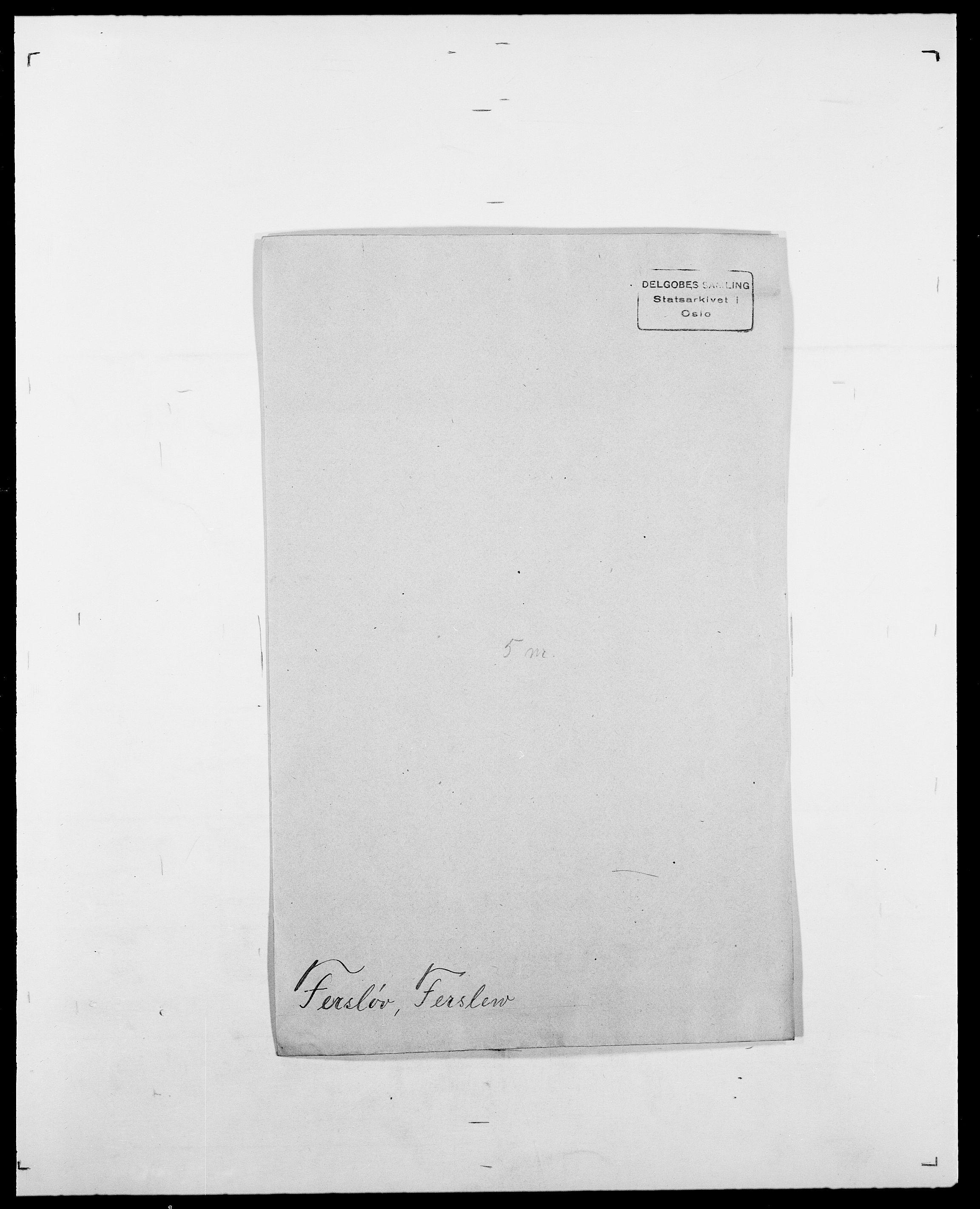 SAO, Delgobe, Charles Antoine - samling, D/Da/L0011: Fahlander - Flood, Flod, s. 387