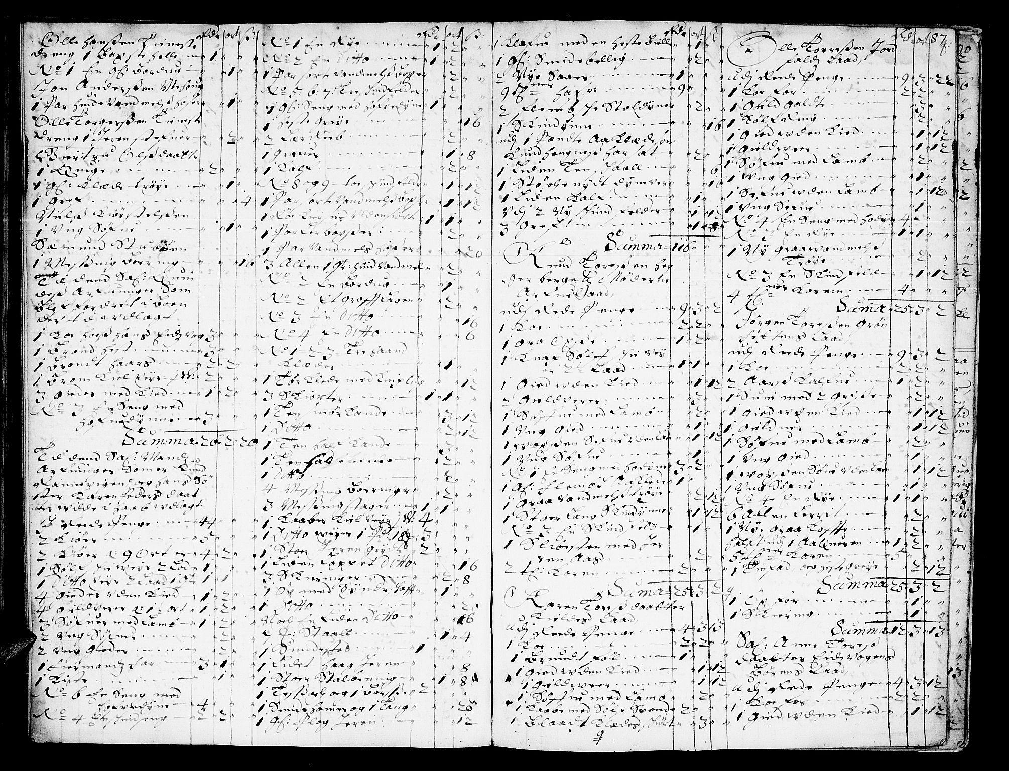 SAT, Romsdal sorenskriveri, 3/3A/L0002: Skifteprotokoll, 1683-1687, s. 86b-87a