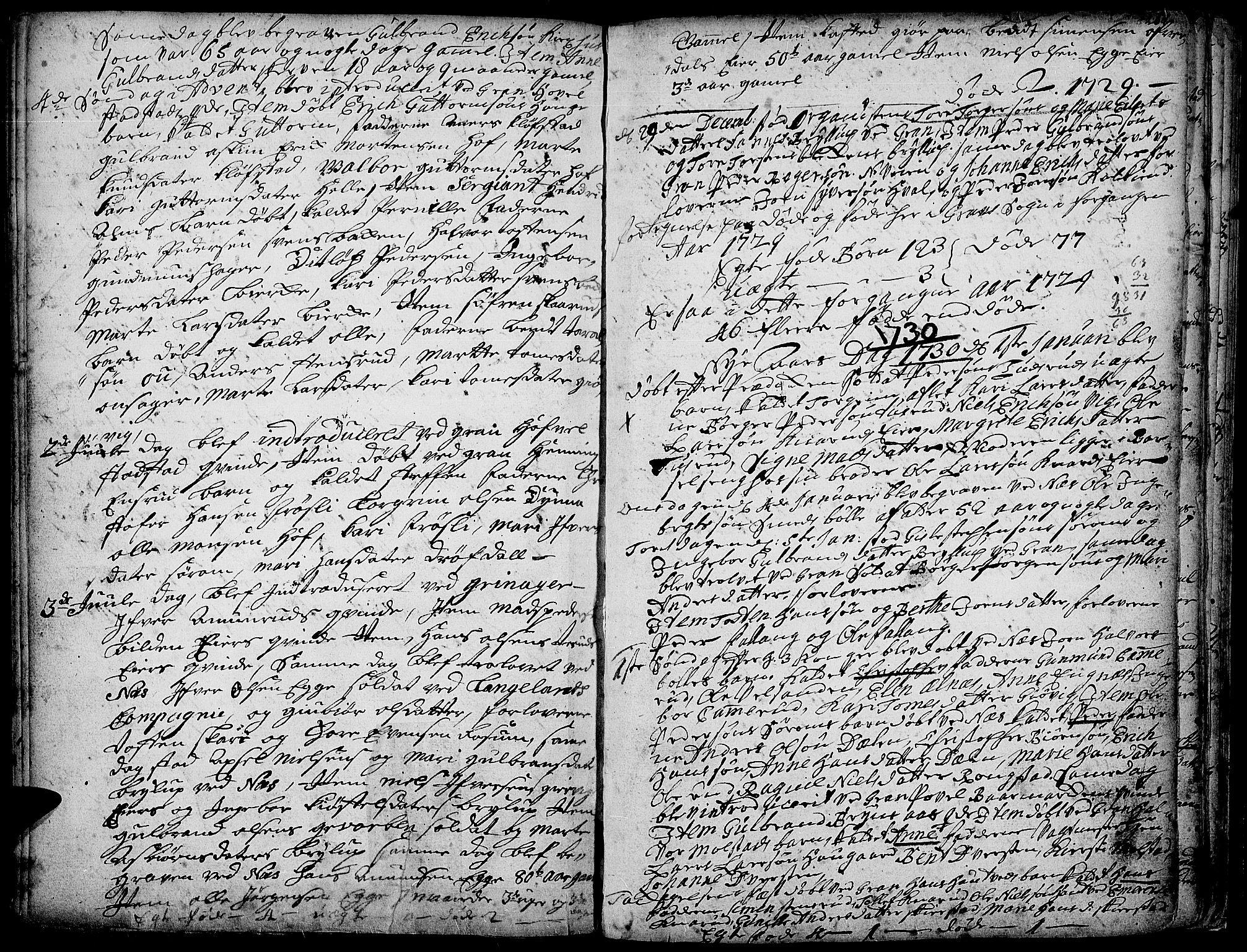 SAH, Gran prestekontor, Ministerialbok nr. 1, 1707-1731, s. 259