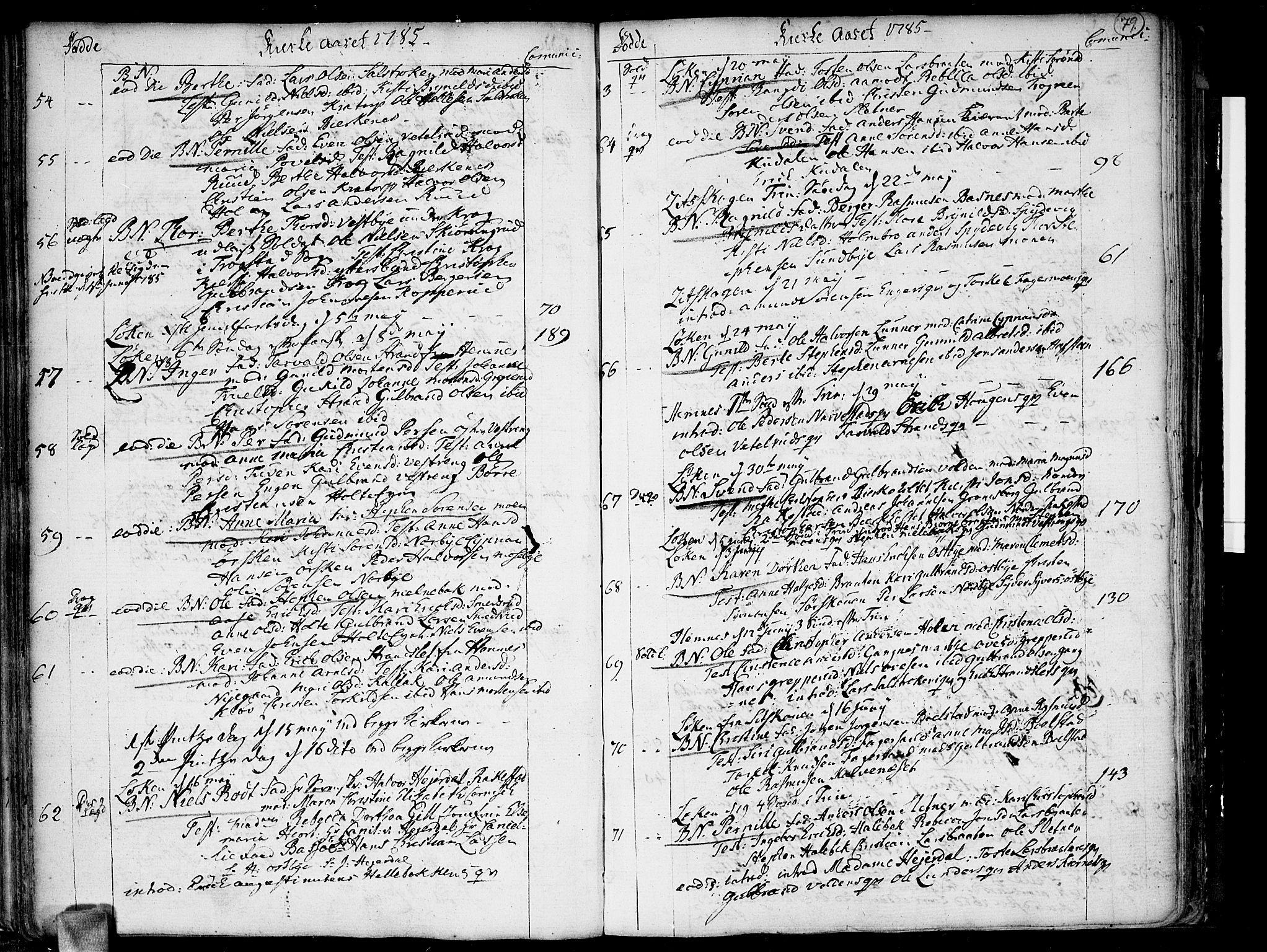 SAO, Høland prestekontor Kirkebøker, F/Fa/L0005: Ministerialbok nr. I 5, 1780-1793, s. 79