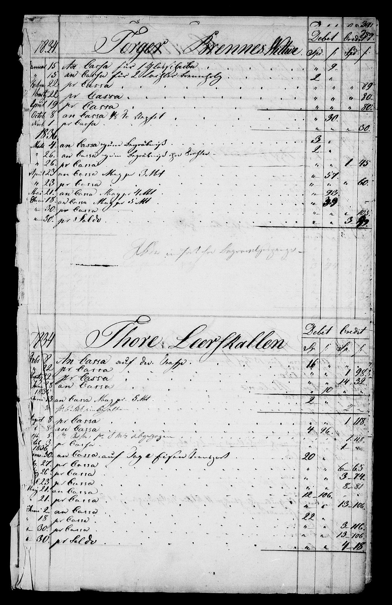 RA, Modums Blaafarveværk, G/Gd/Gdb/L0210: Rester av diverse regnskapsprotokoller, 1822-1849, s. 2
