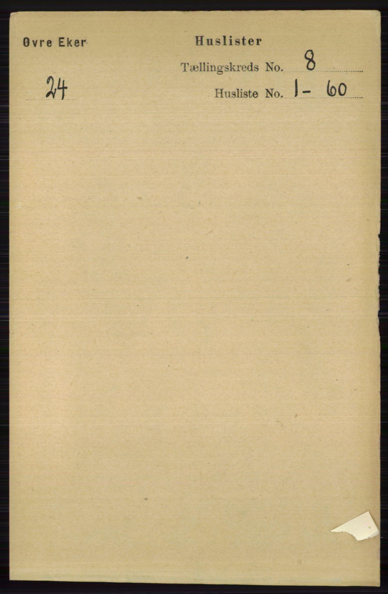 RA, Folketelling 1891 for 0624 Øvre Eiker herred, 1891, s. 3167