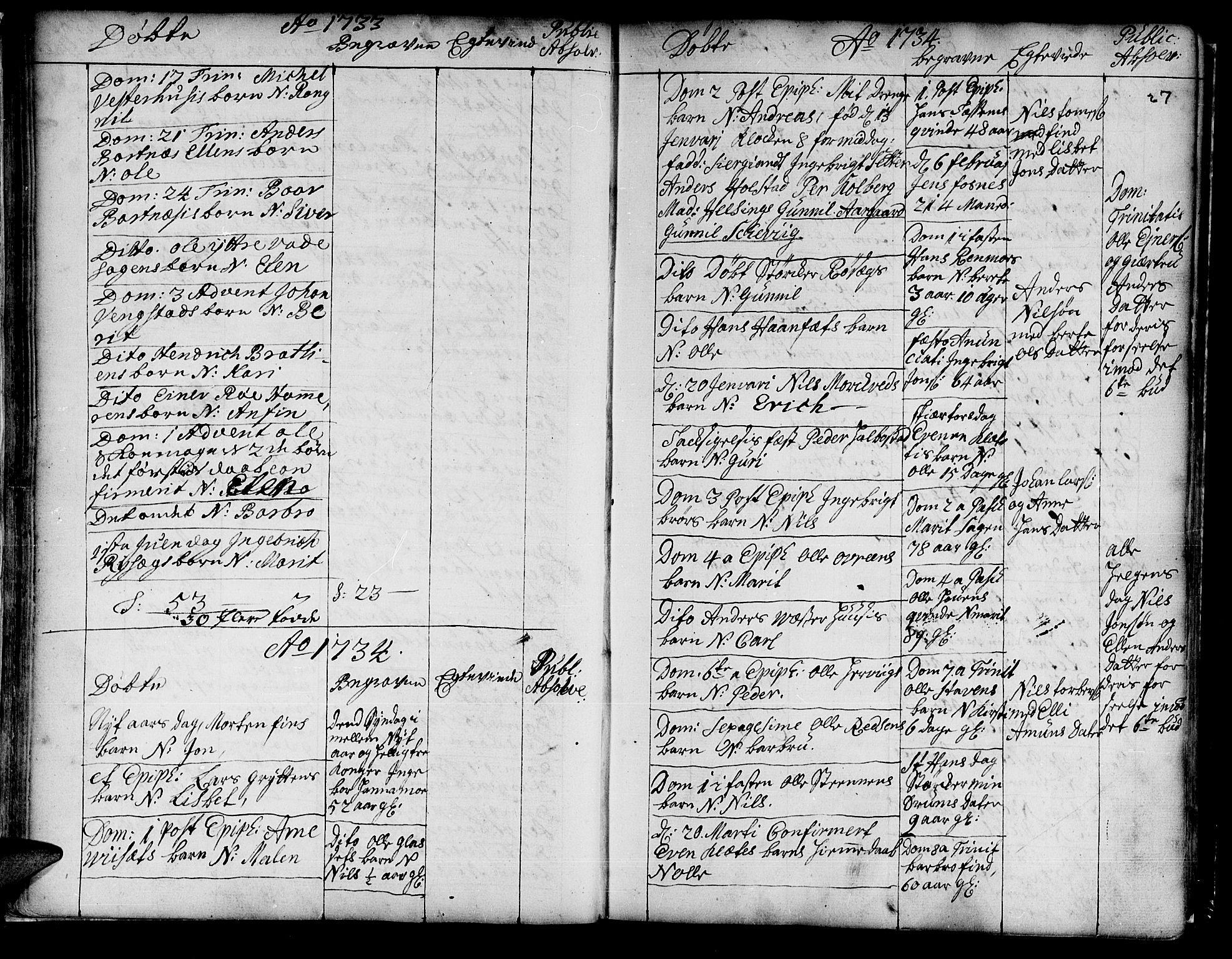 SAT, Ministerialprotokoller, klokkerbøker og fødselsregistre - Nord-Trøndelag, 741/L0385: Ministerialbok nr. 741A01, 1722-1815, s. 27