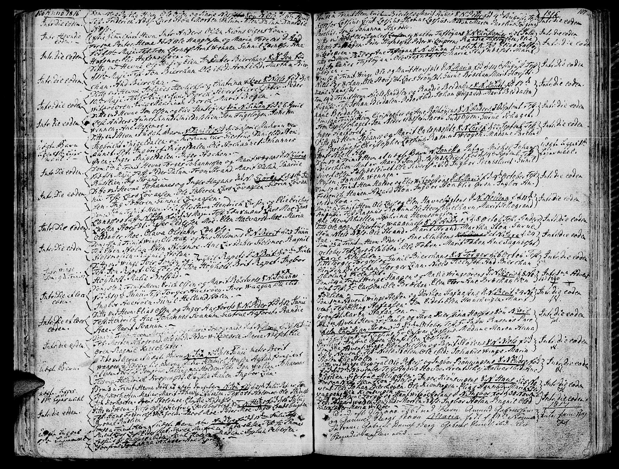 SAT, Ministerialprotokoller, klokkerbøker og fødselsregistre - Sør-Trøndelag, 630/L0490: Ministerialbok nr. 630A03, 1795-1818, s. 106-107