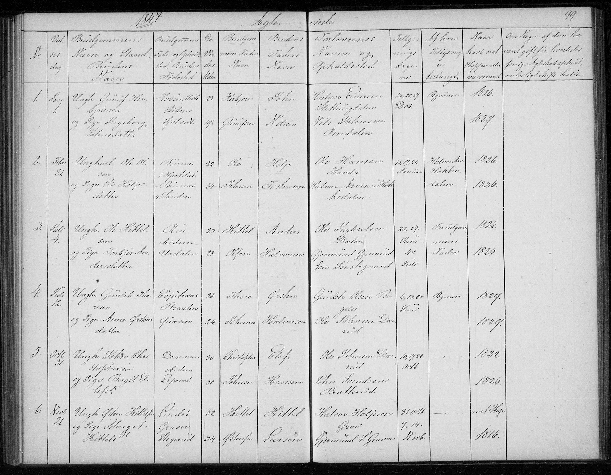 SAKO, Gransherad kirkebøker, F/Fb/L0003: Ministerialbok nr. II 3, 1844-1859, s. 99