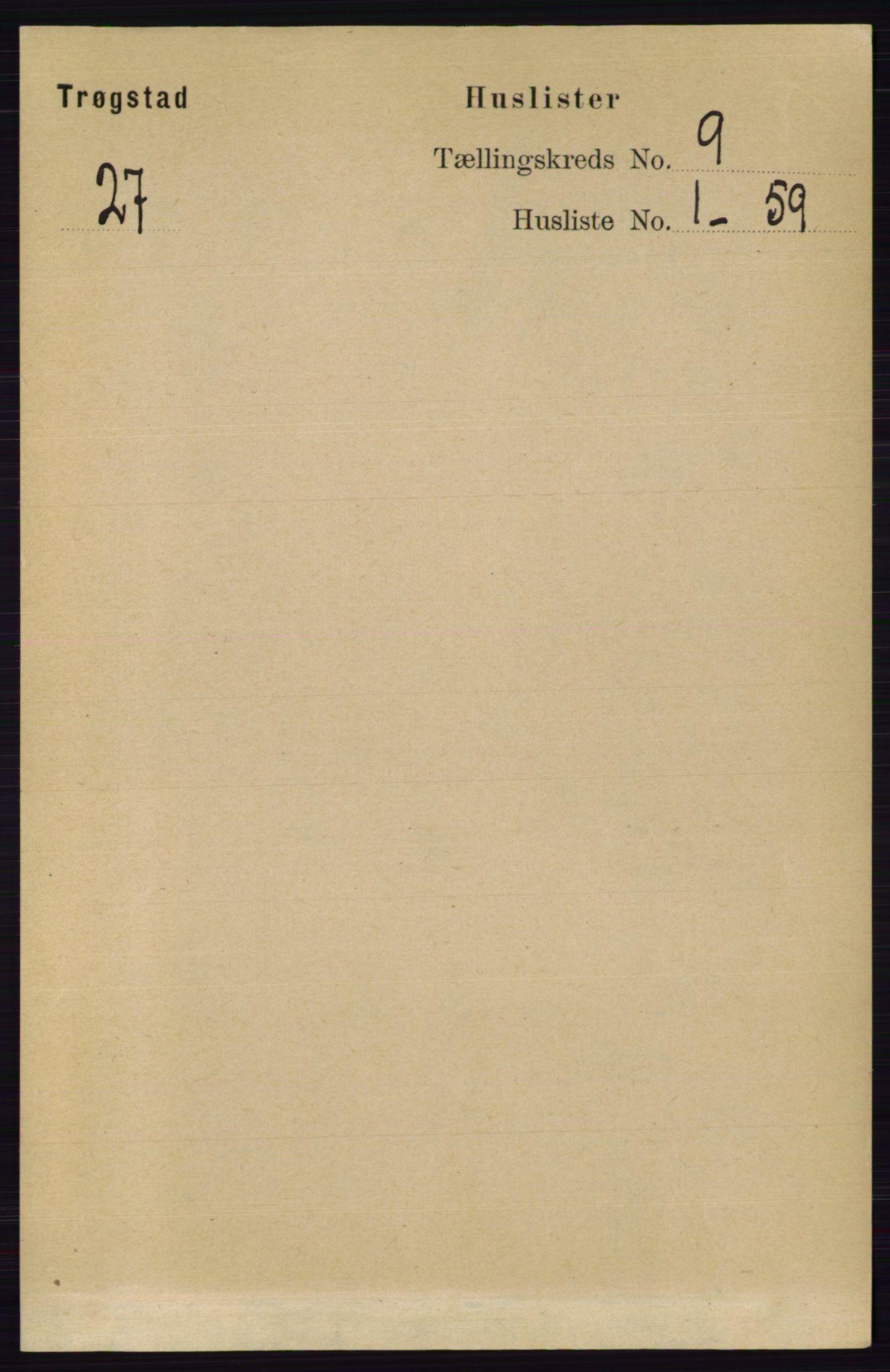RA, Folketelling 1891 for 0122 Trøgstad herred, 1891, s. 3830