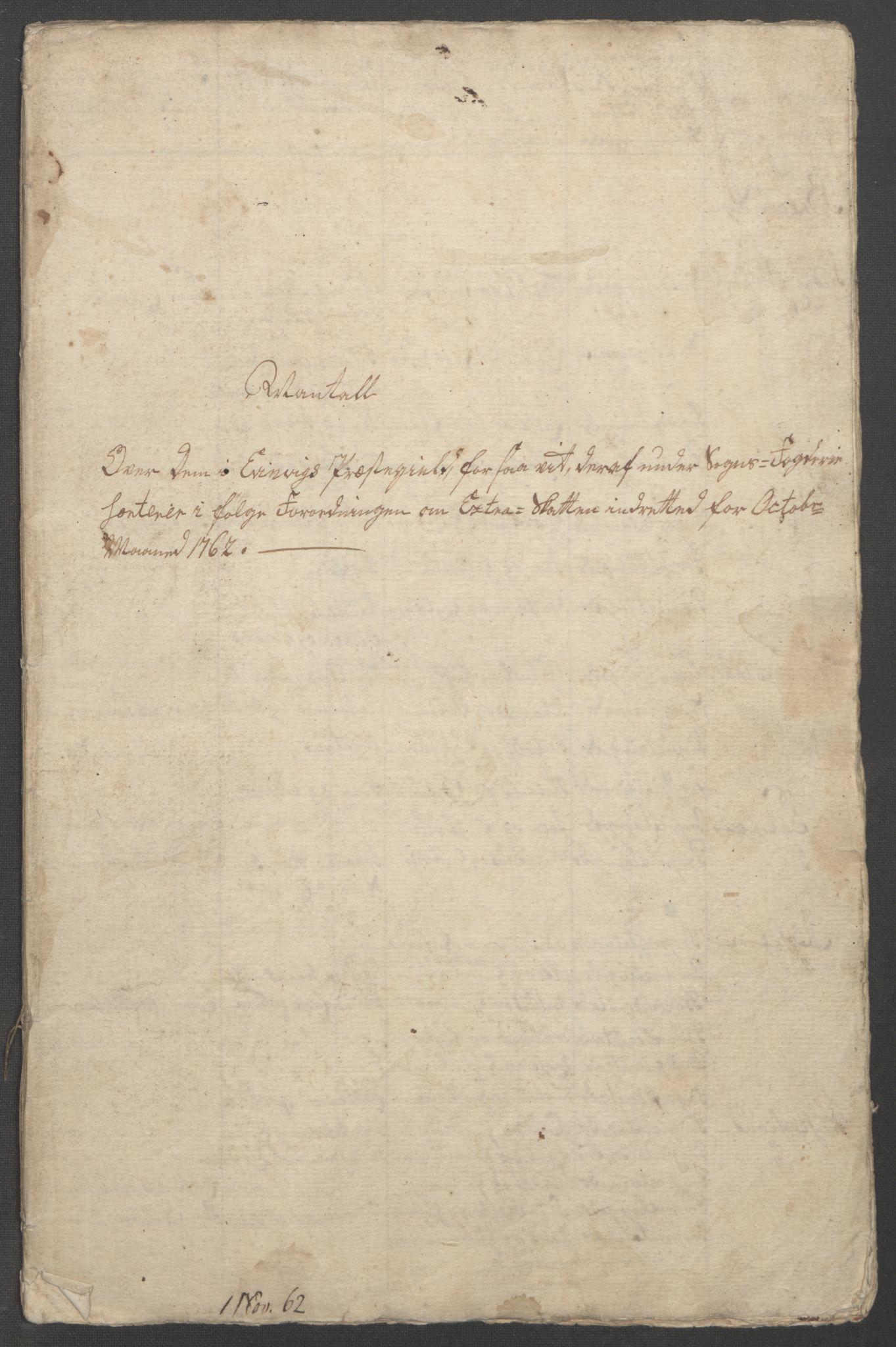 RA, Rentekammeret inntil 1814, Reviderte regnskaper, Fogderegnskap, R52/L3418: Ekstraskatten Sogn, 1762-1769, s. 311