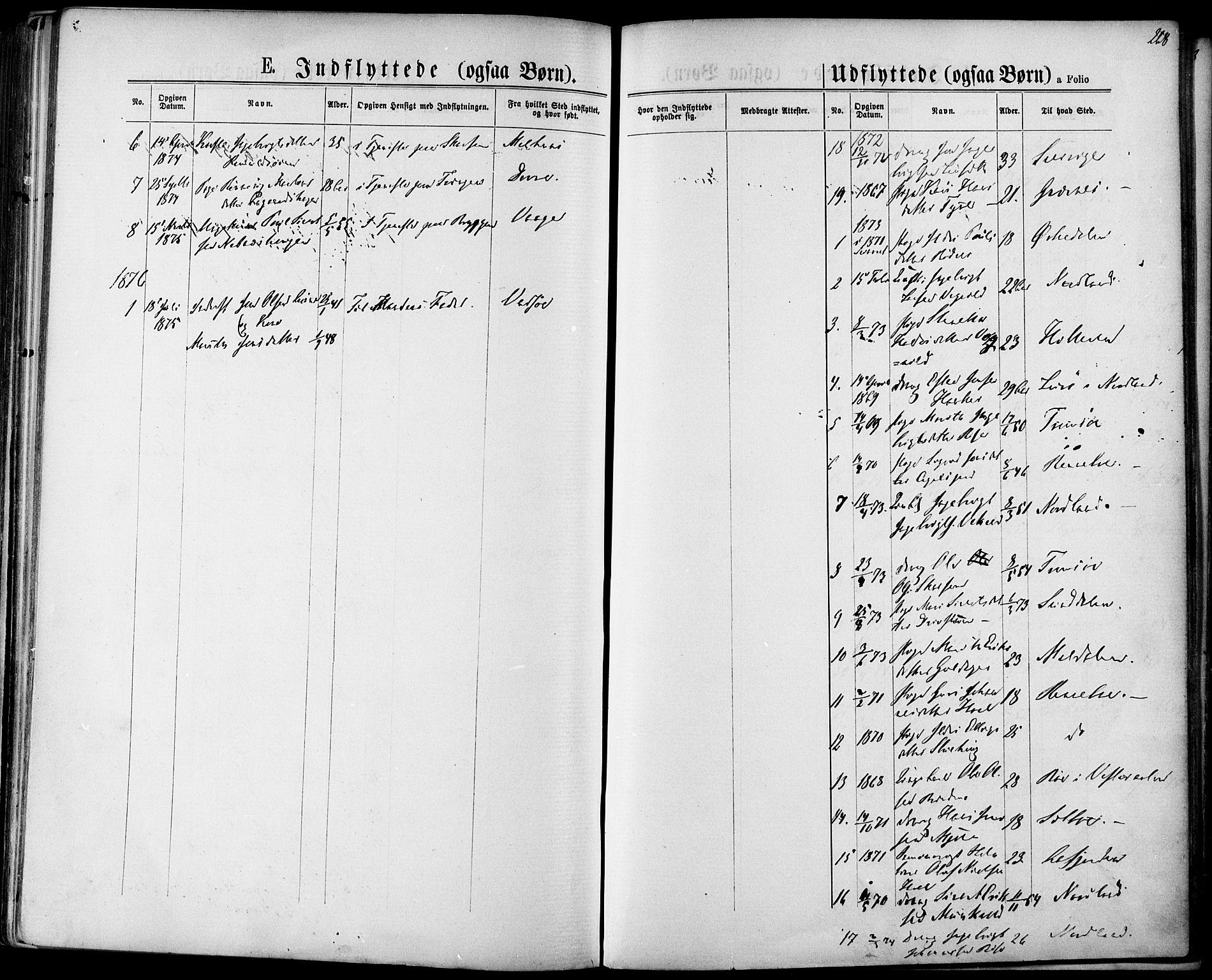 SAT, Ministerialprotokoller, klokkerbøker og fødselsregistre - Sør-Trøndelag, 678/L0900: Ministerialbok nr. 678A09, 1872-1881, s. 268