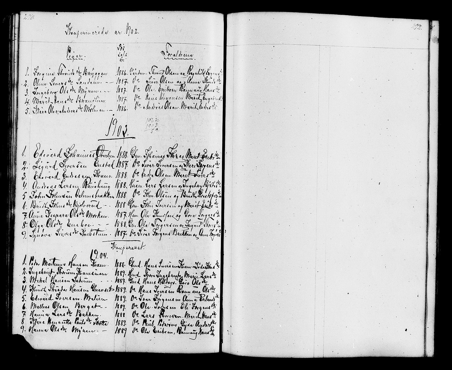 SAH, Lesja prestekontor, Klokkerbok nr. 6, 1871-1904, s. 270-271