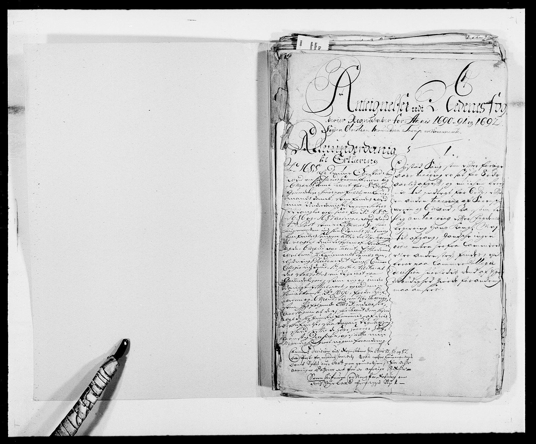 RA, Rentekammeret inntil 1814, Reviderte regnskaper, Fogderegnskap, R39/L2311: Fogderegnskap Nedenes, 1690-1692, s. 324