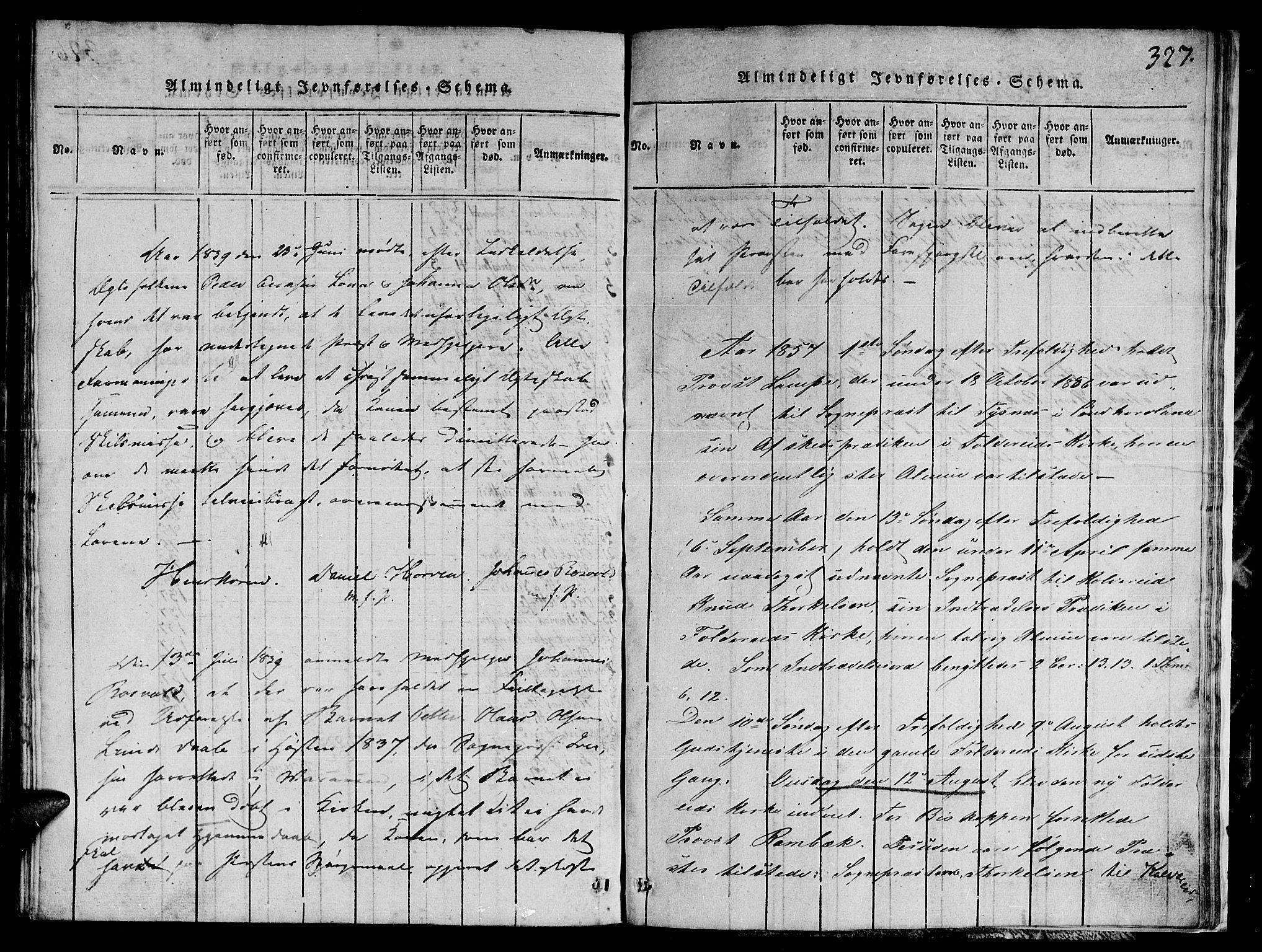 SAT, Ministerialprotokoller, klokkerbøker og fødselsregistre - Nord-Trøndelag, 780/L0648: Klokkerbok nr. 780C01 /1, 1815-1870, s. 327