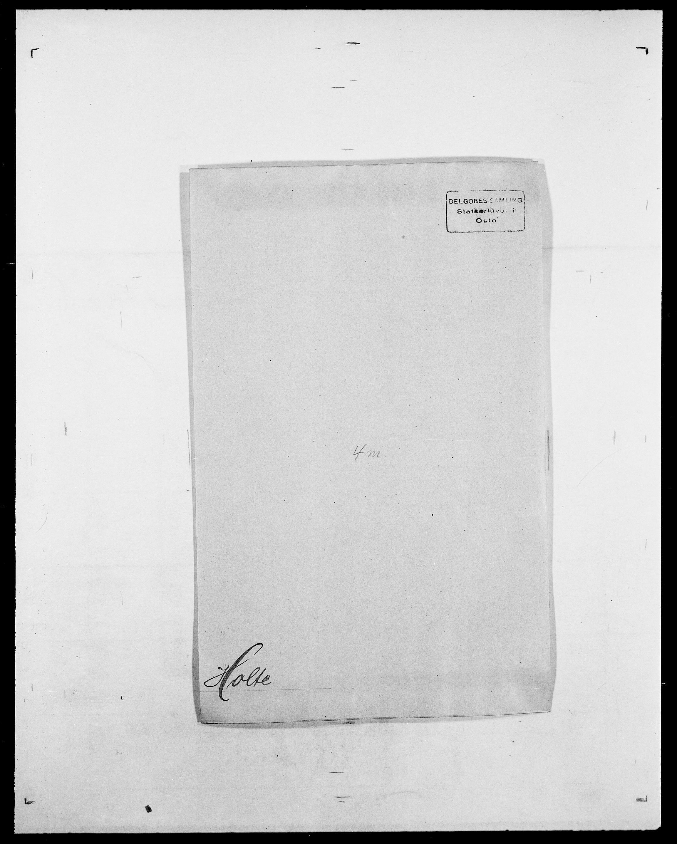 SAO, Delgobe, Charles Antoine - samling, D/Da/L0018: Hoch - Howert, s. 822