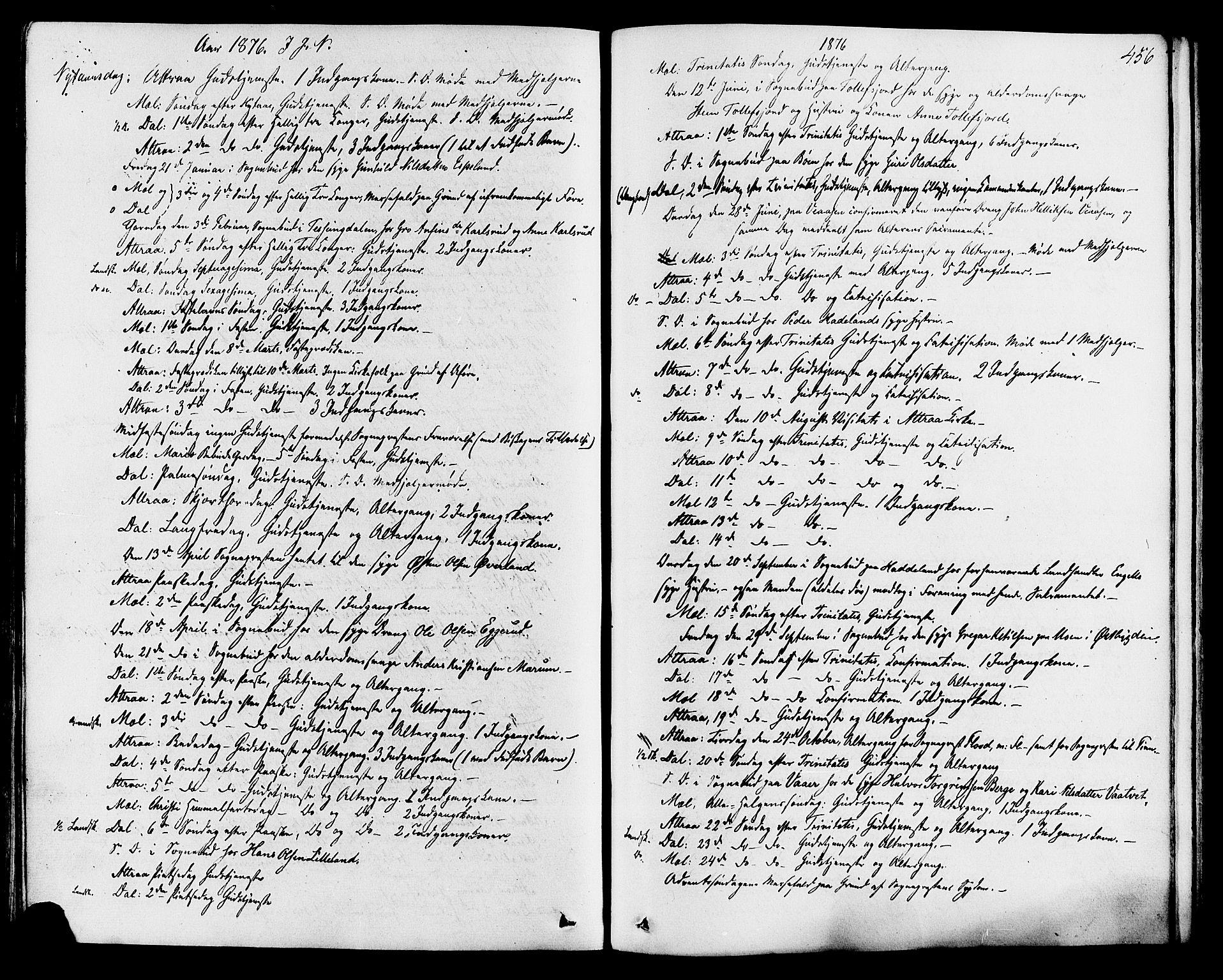 SAKO, Tinn kirkebøker, F/Fa/L0006: Ministerialbok nr. I 6, 1857-1878, s. 456