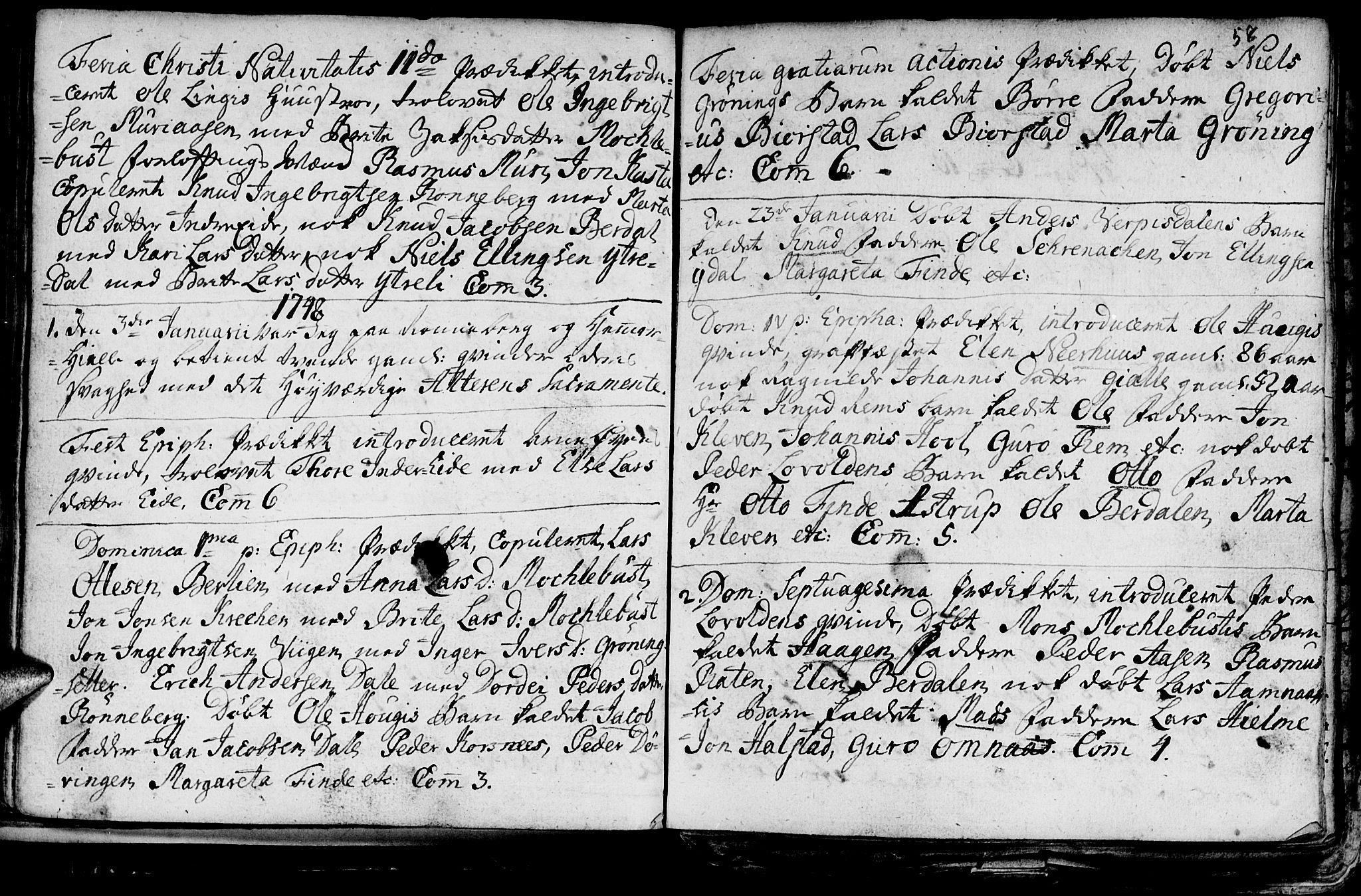 SAT, Ministerialprotokoller, klokkerbøker og fødselsregistre - Møre og Romsdal, 519/L0240: Ministerialbok nr. 519A01 /1, 1736-1760, s. 58