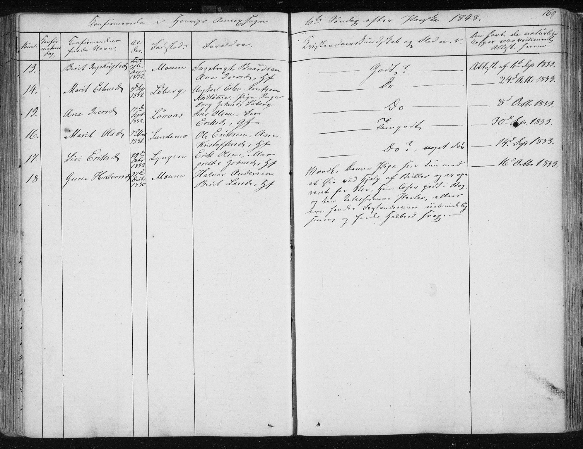SAT, Ministerialprotokoller, klokkerbøker og fødselsregistre - Sør-Trøndelag, 687/L0998: Ministerialbok nr. 687A05 /2, 1843-1849, s. 169