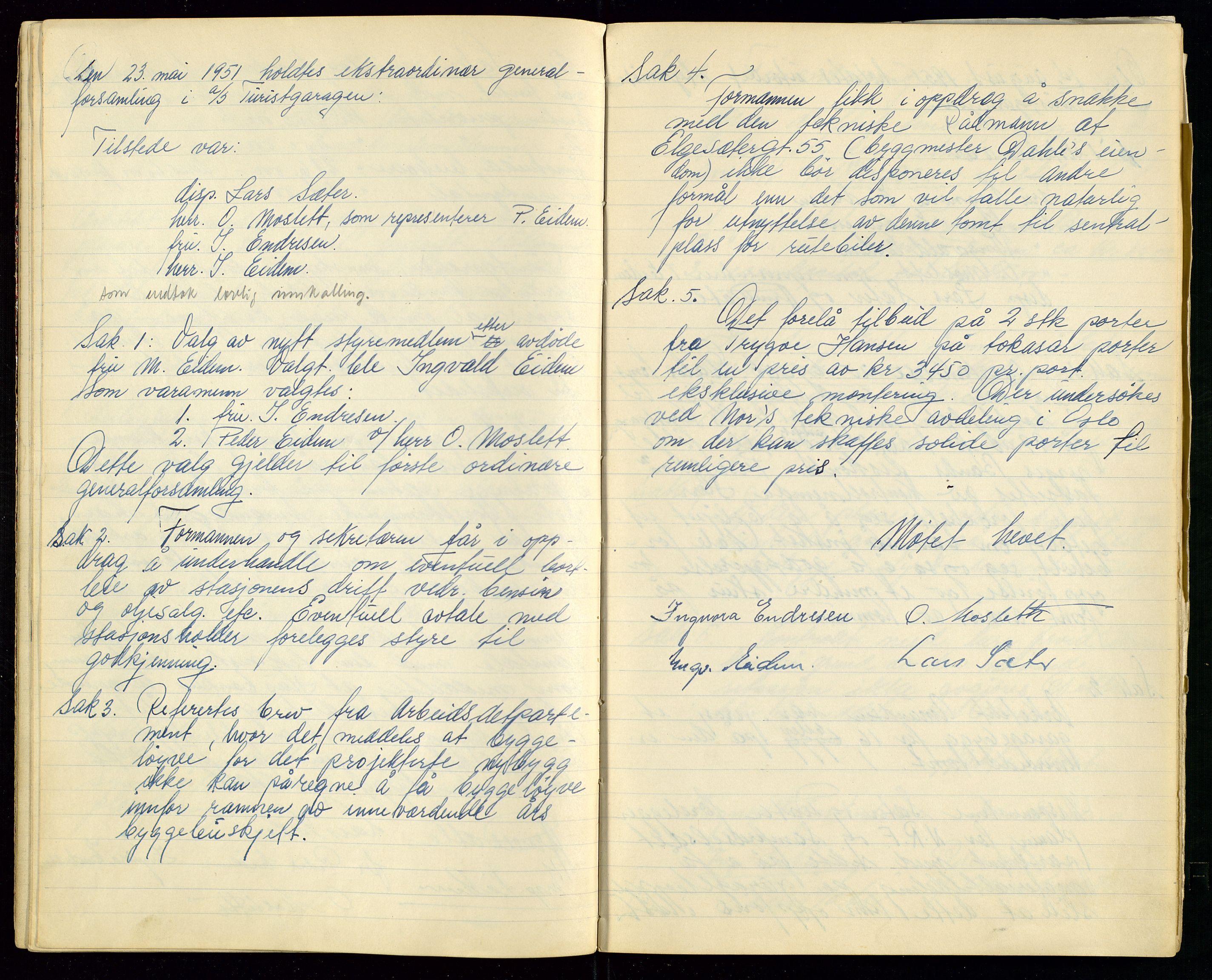 SAST, PA 1515 - Turistgarasjen A/S, A/L0001: Forhandlingsprotokoll, 1937-1958, s. 18