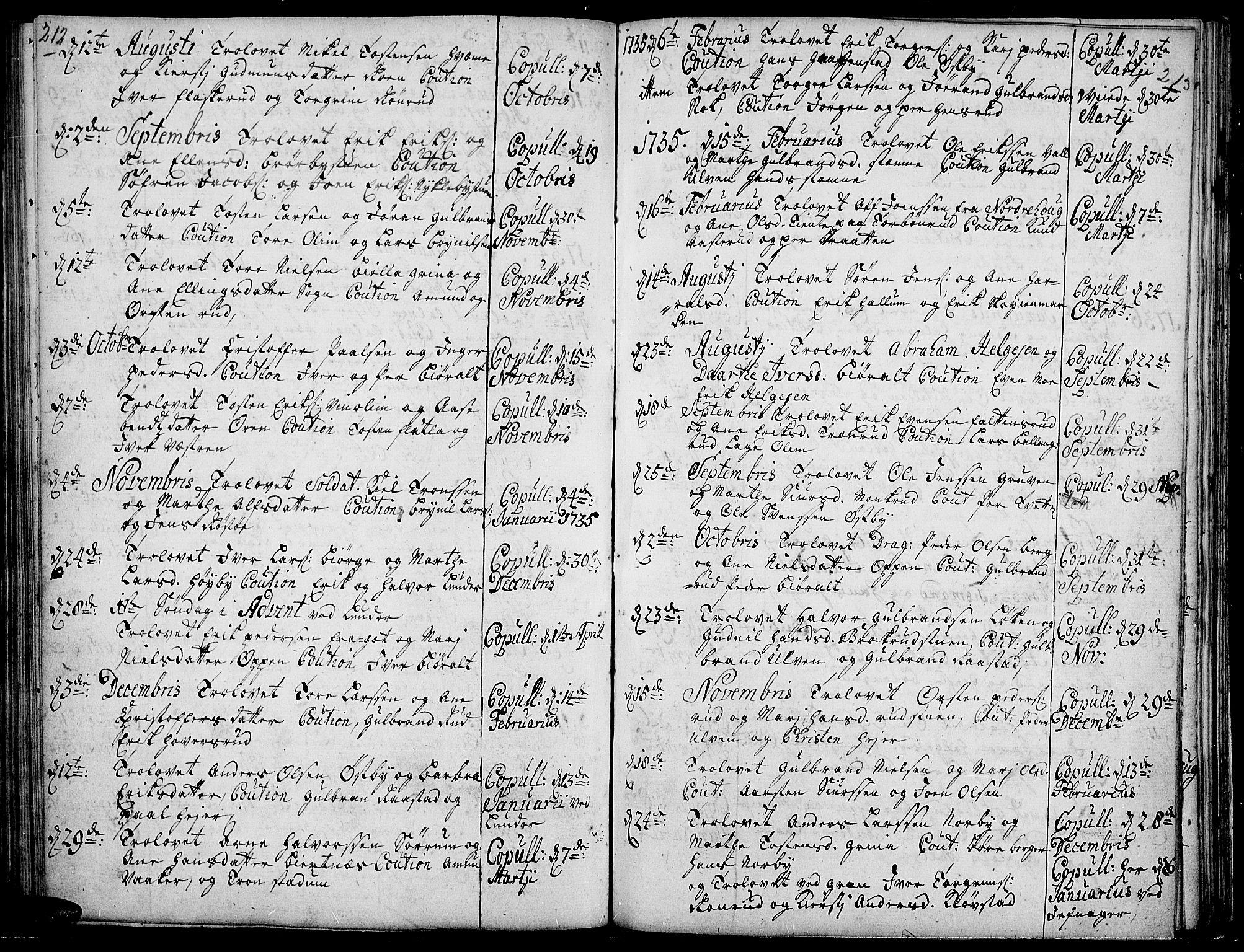 SAH, Jevnaker prestekontor, Ministerialbok nr. 2, 1725-1751, s. 212-213