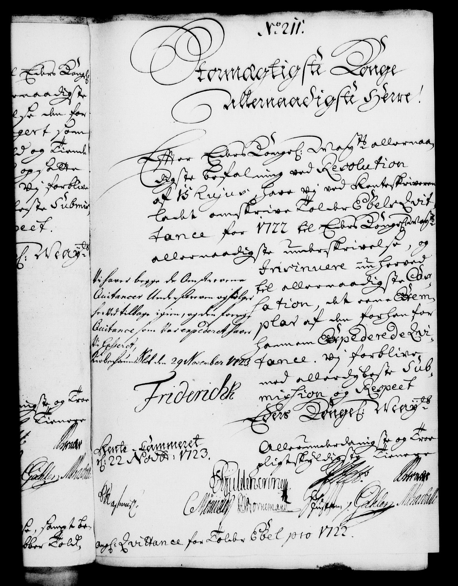 RA, Rentekammeret, Kammerkanselliet, G/Gf/Gfa/L0006: Norsk relasjons- og resolusjonsprotokoll (merket RK 52.6), 1723, s. 1316