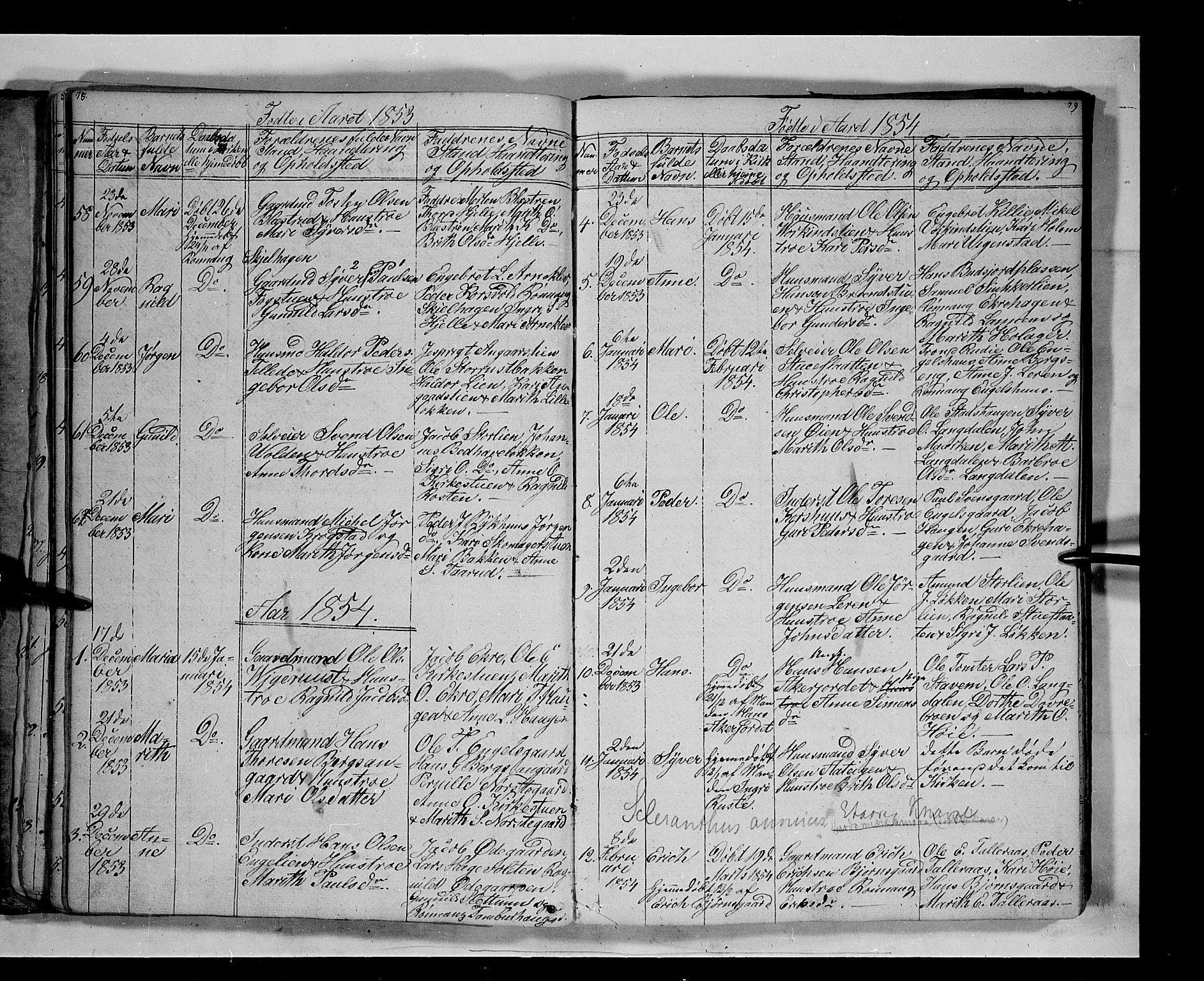 SAH, Lesja prestekontor, Klokkerbok nr. 3, 1842-1862, s. 78-79