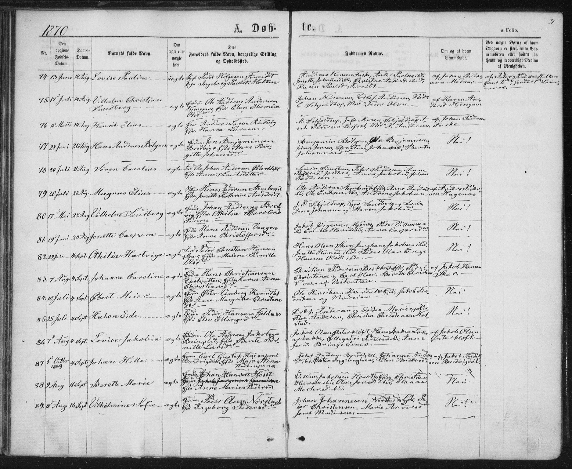 SAT, Ministerialprotokoller, klokkerbøker og fødselsregistre - Nordland, 852/L0739: Ministerialbok nr. 852A09, 1866-1877, s. 31