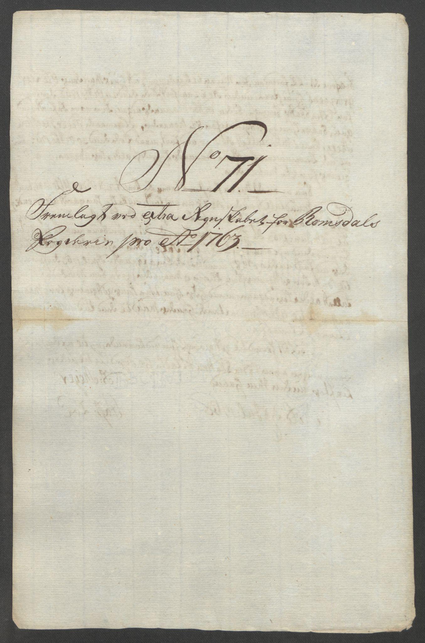 RA, Rentekammeret inntil 1814, Reviderte regnskaper, Fogderegnskap, R55/L3730: Ekstraskatten Romsdal, 1762-1763, s. 522