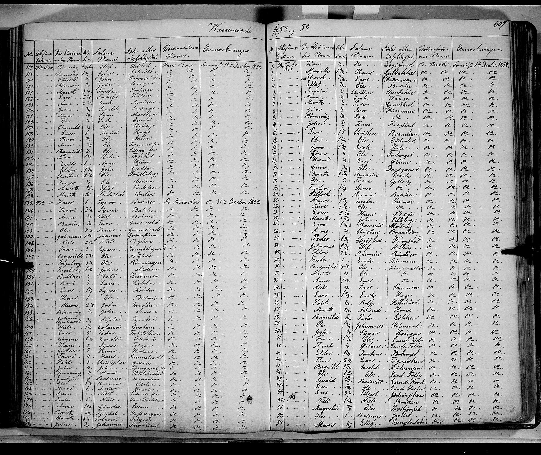 SAH, Lom prestekontor, K/L0006: Ministerialbok nr. 6B, 1837-1863, s. 607