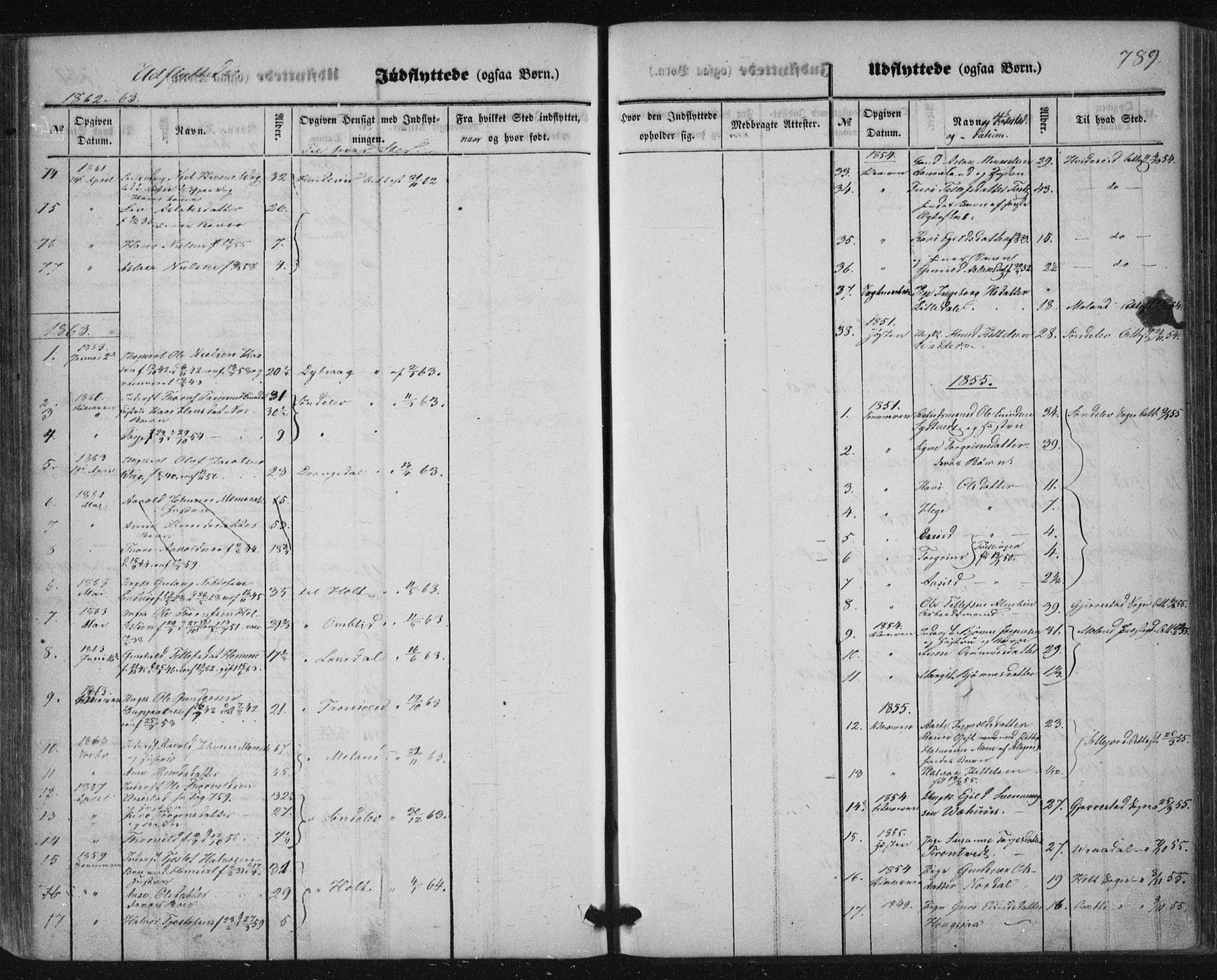 SAKO, Nissedal kirkebøker, F/Fa/L0003: Ministerialbok nr. I 3, 1846-1870, s. 788-789