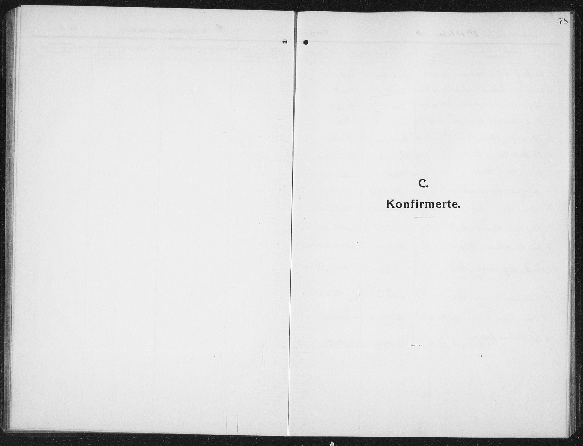SAT, Ministerialprotokoller, klokkerbøker og fødselsregistre - Nord-Trøndelag, 742/L0413: Klokkerbok nr. 742C04, 1911-1938, s. 78