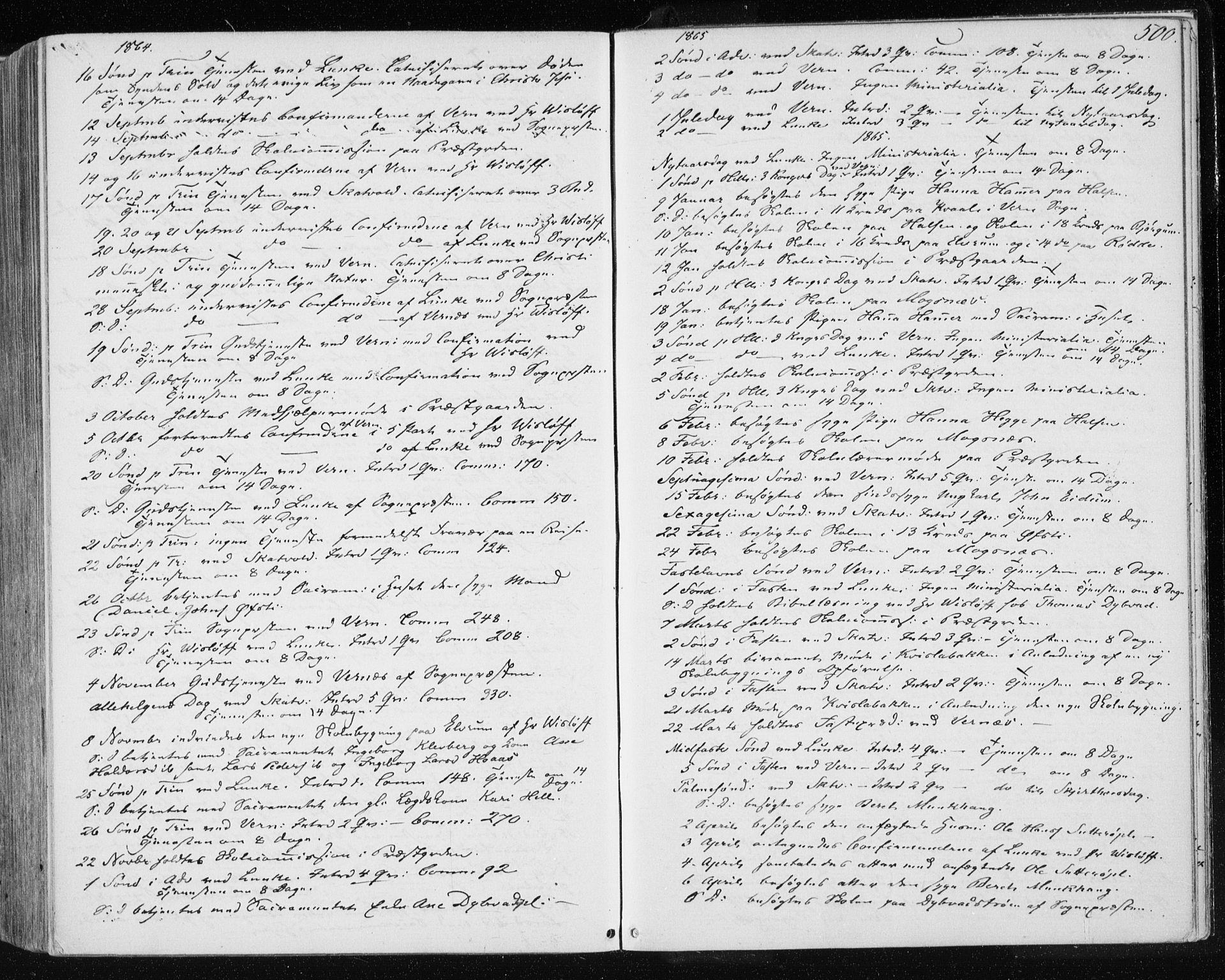 SAT, Ministerialprotokoller, klokkerbøker og fødselsregistre - Nord-Trøndelag, 709/L0075: Ministerialbok nr. 709A15, 1859-1870, s. 500