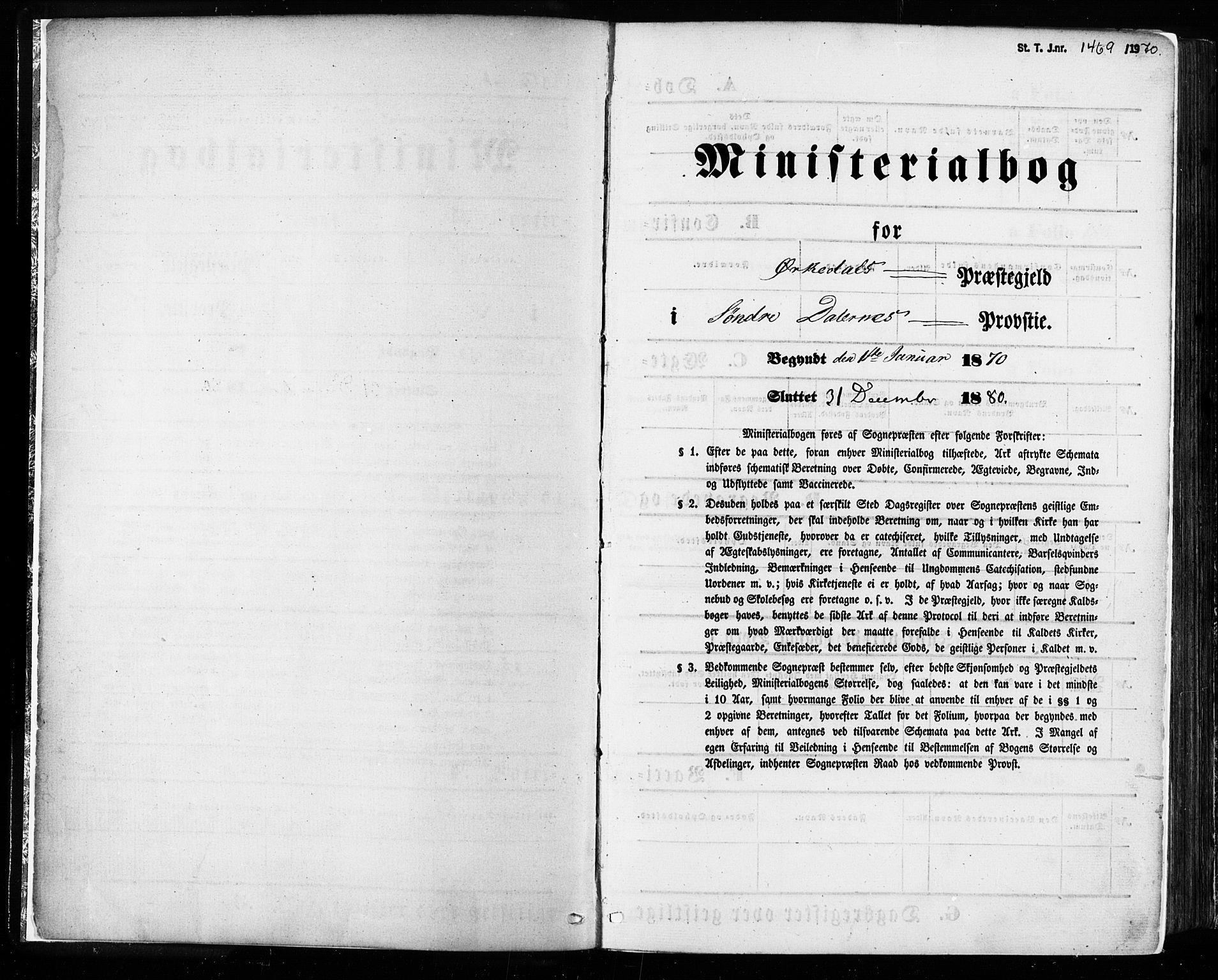 SAT, Ministerialprotokoller, klokkerbøker og fødselsregistre - Sør-Trøndelag, 668/L0807: Ministerialbok nr. 668A07, 1870-1880