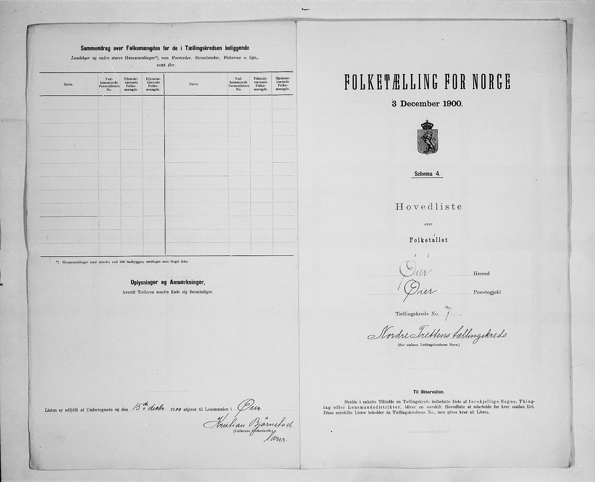 SAH, Folketelling 1900 for 0521 Øyer herred, 1900, s. 27