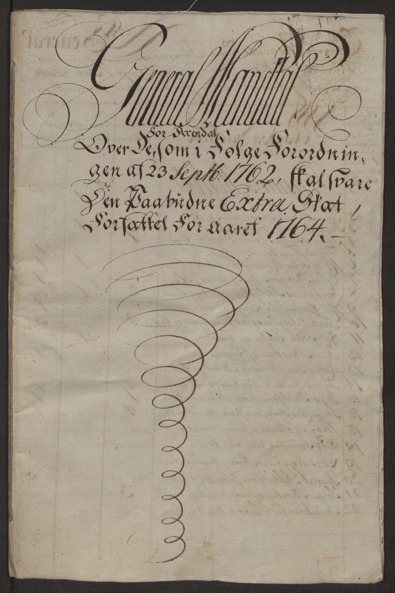 RA, Rentekammeret inntil 1814, Reviderte regnskaper, Byregnskaper, R/Rl/L0230: [L4] Kontribusjonsregnskap, 1762-1764, s. 399