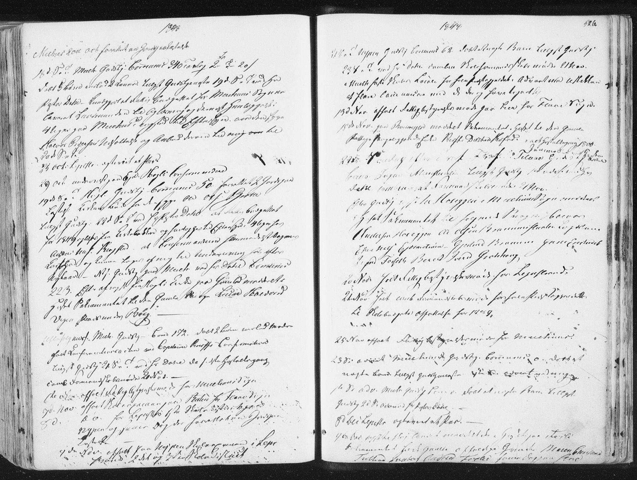 SAT, Ministerialprotokoller, klokkerbøker og fødselsregistre - Sør-Trøndelag, 691/L1074: Ministerialbok nr. 691A06, 1842-1852, s. 526