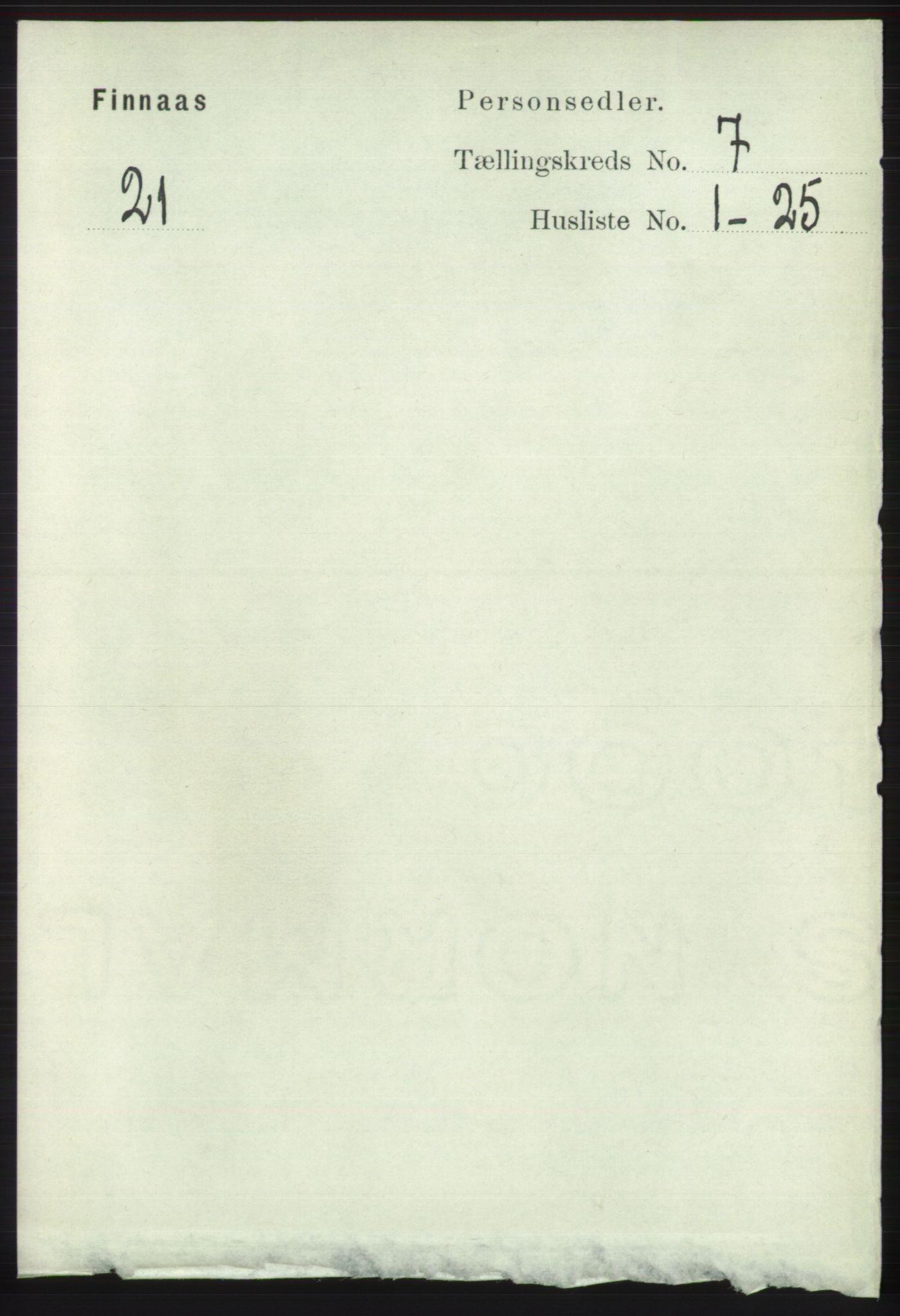 RA, Folketelling 1891 for 1218 Finnås herred, 1891, s. 2633