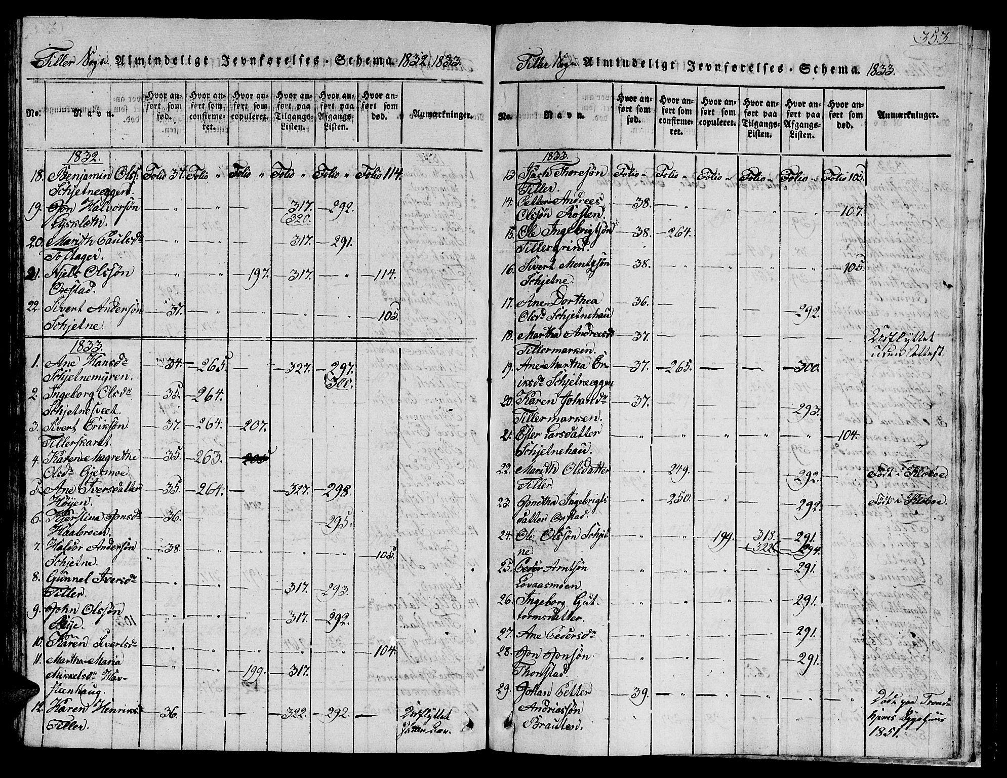 SAT, Ministerialprotokoller, klokkerbøker og fødselsregistre - Sør-Trøndelag, 621/L0458: Klokkerbok nr. 621C01, 1816-1865, s. 353