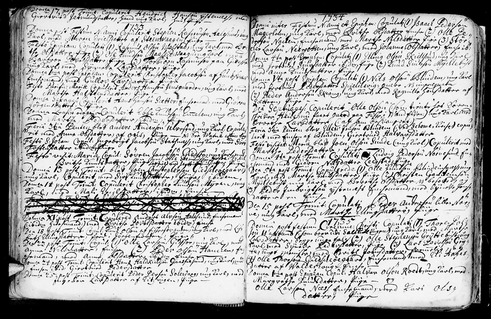 SAT, Ministerialprotokoller, klokkerbøker og fødselsregistre - Møre og Romsdal, 528/L0390: Ministerialbok nr. 528A01, 1698-1739, s. 114-115