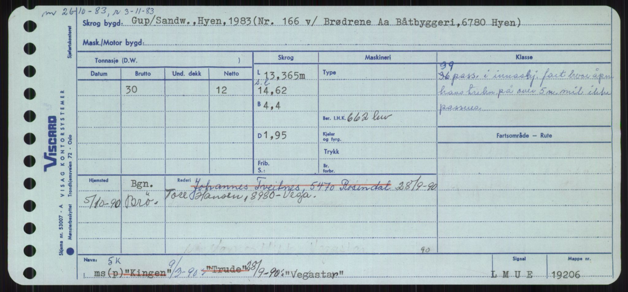 RA, Sjøfartsdirektoratet med forløpere, Skipsmålingen, H/Ha/L0006: Fartøy, Sver-Å, s. 205