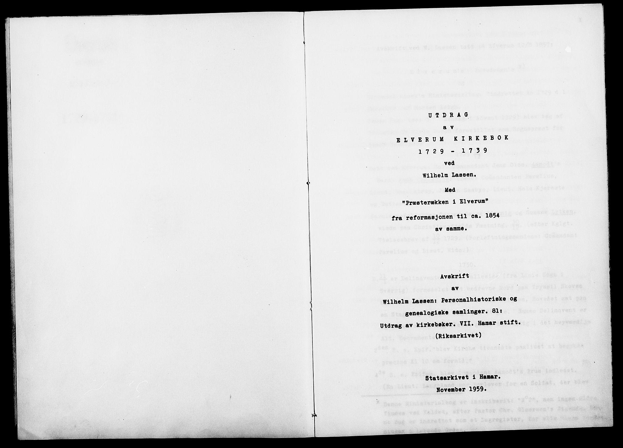 SAH, Elverum prestekontor, H/Ha/Haa/L0000: Ministerialbok, 1729-1739