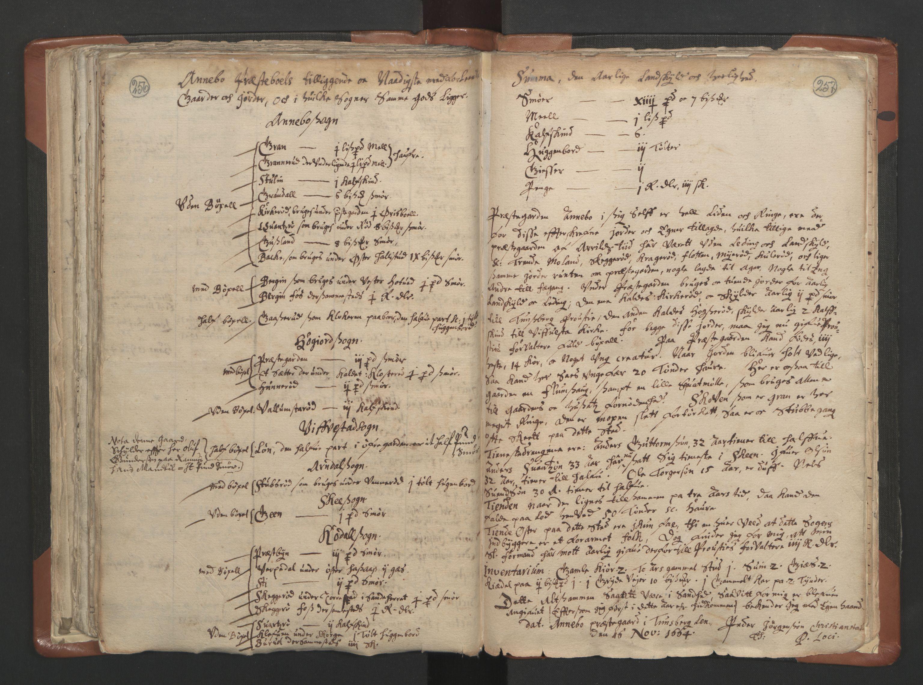 RA, Sogneprestenes manntall 1664-1666, nr. 10: Tønsberg prosti, 1664-1666, s. 256-257