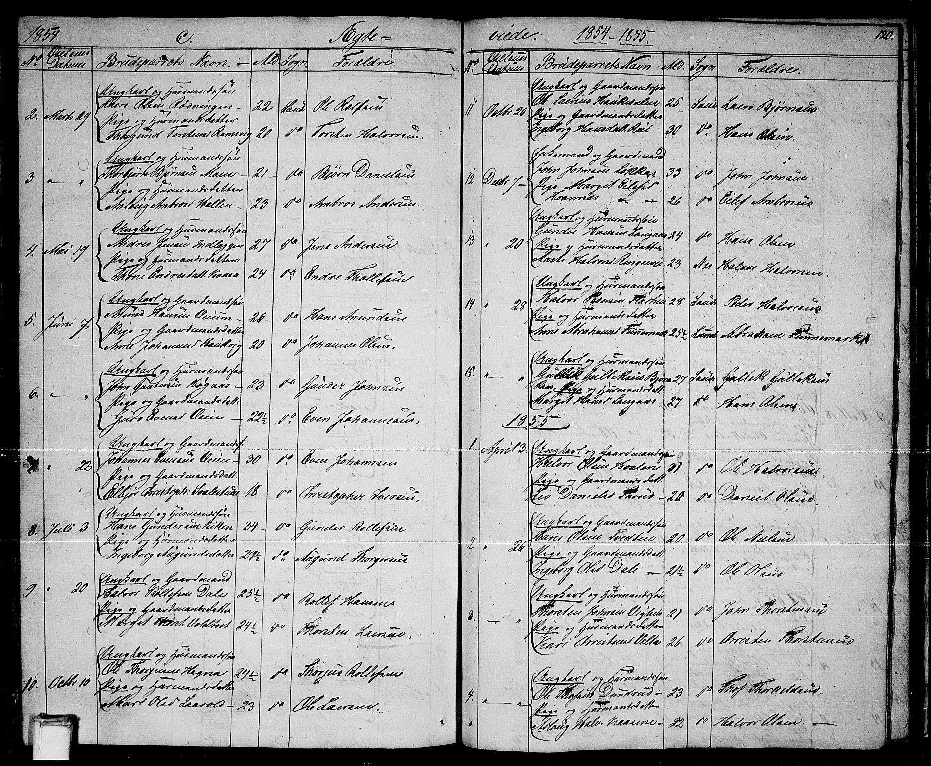 SAKO, Sauherad kirkebøker, G/Ga/L0002: Klokkerbok nr. I 2, 1842-1866, s. 120