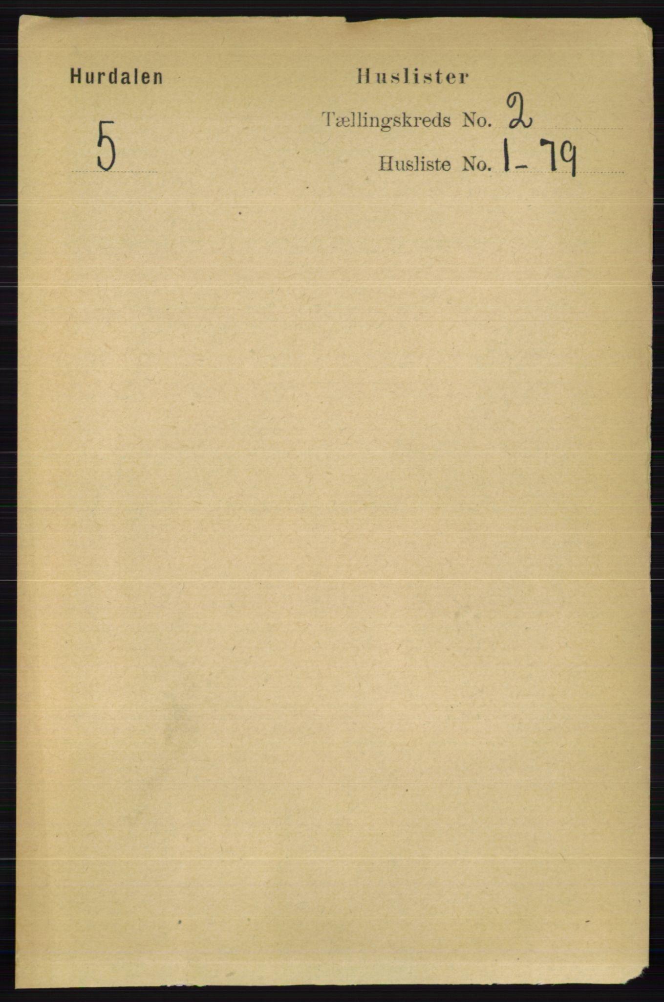 RA, Folketelling 1891 for 0239 Hurdal herred, 1891, s. 442