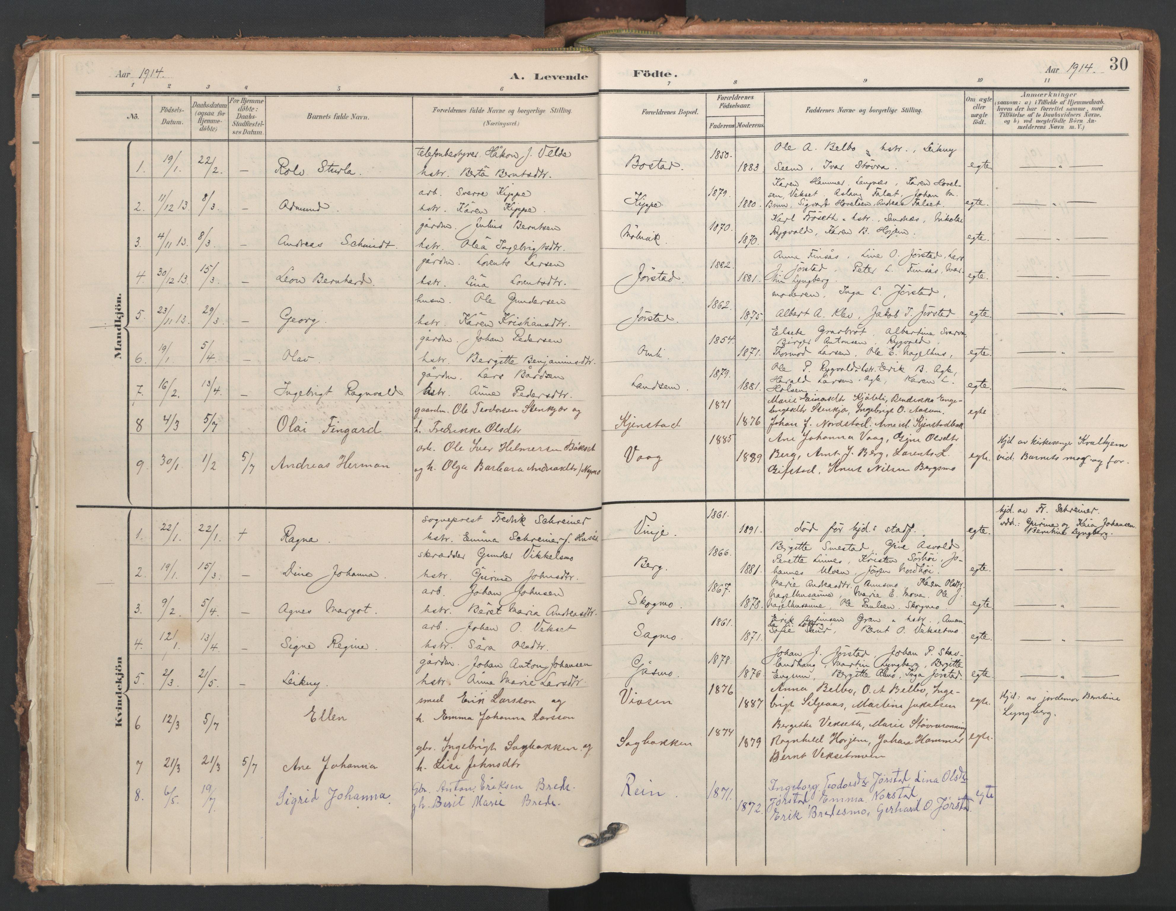SAT, Ministerialprotokoller, klokkerbøker og fødselsregistre - Nord-Trøndelag, 749/L0477: Ministerialbok nr. 749A11, 1902-1927, s. 30