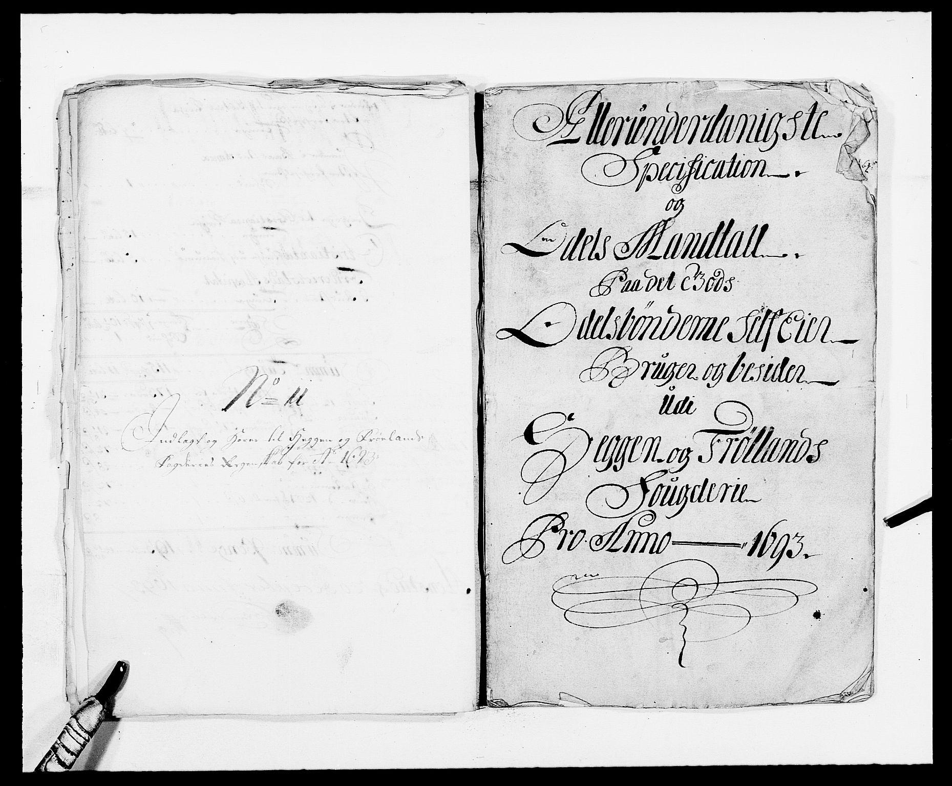 RA, Rentekammeret inntil 1814, Reviderte regnskaper, Fogderegnskap, R06/L0283: Fogderegnskap Heggen og Frøland, 1691-1693, s. 414