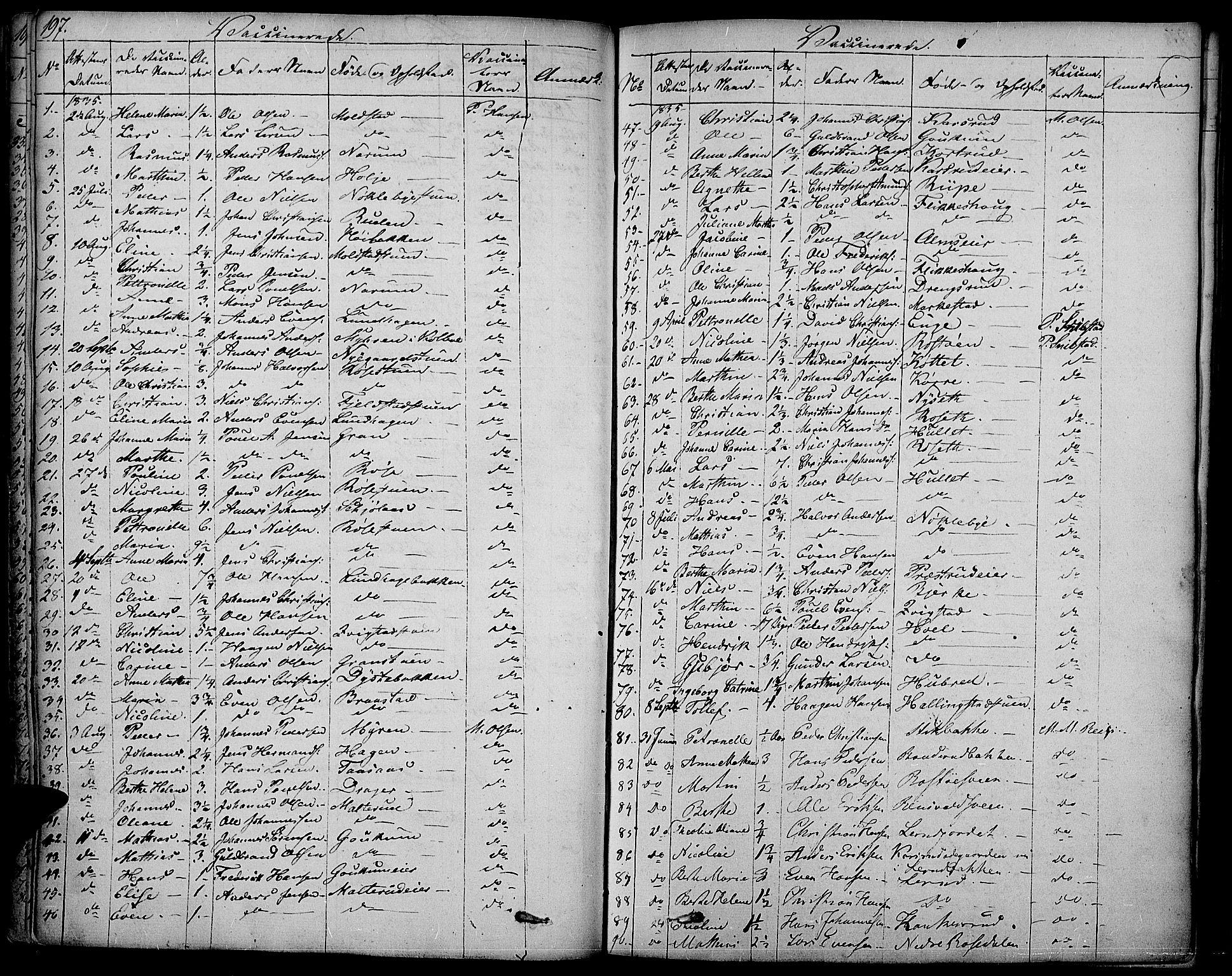 SAH, Vestre Toten prestekontor, Ministerialbok nr. 2, 1825-1837, s. 197