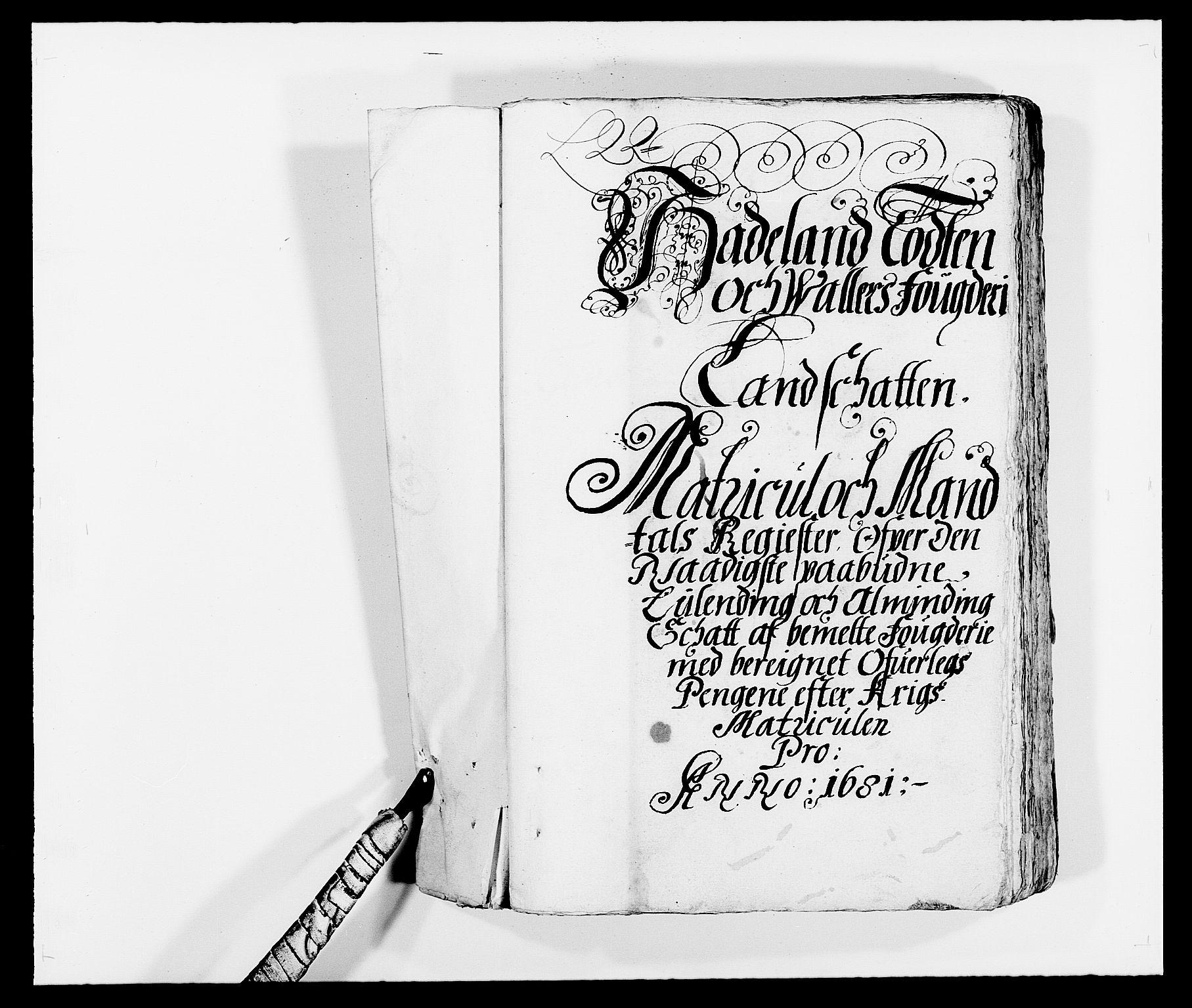 RA, Rentekammeret inntil 1814, Reviderte regnskaper, Fogderegnskap, R18/L1278: Fogderegnskap Hadeland, Toten og Valdres, 1681, s. 159