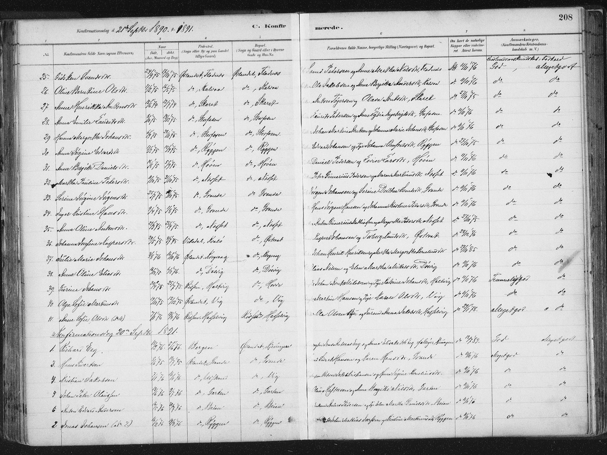 SAT, Ministerialprotokoller, klokkerbøker og fødselsregistre - Sør-Trøndelag, 659/L0739: Ministerialbok nr. 659A09, 1879-1893, s. 208